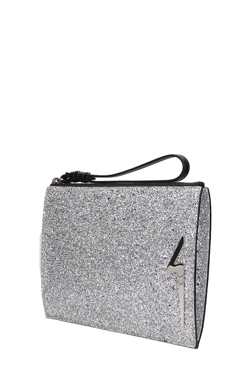 Giuseppe Zanotti Bags Giuseppe Zanotti G-glitter Silver Pouch