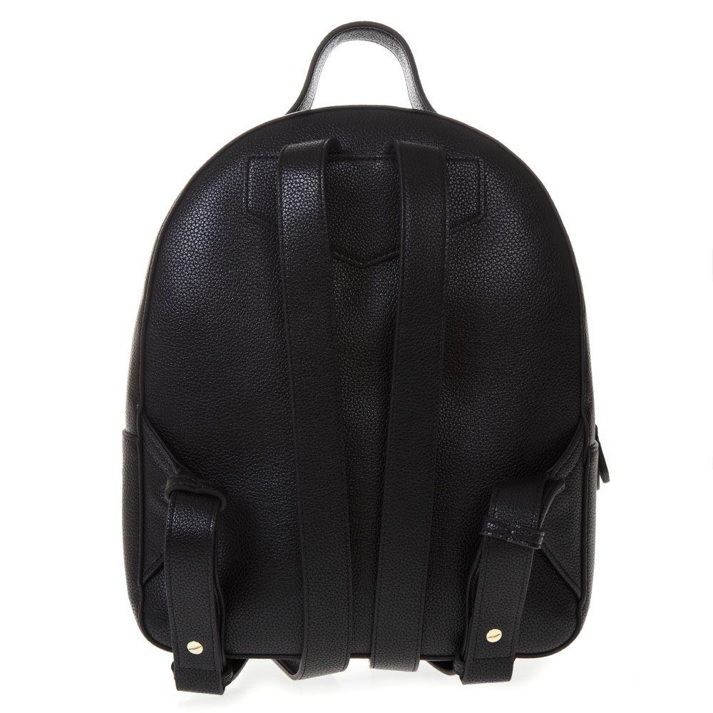 f6f0cb960245 Emporio Armani Emporio Armani Black Faux Leather Backpack - Black ...