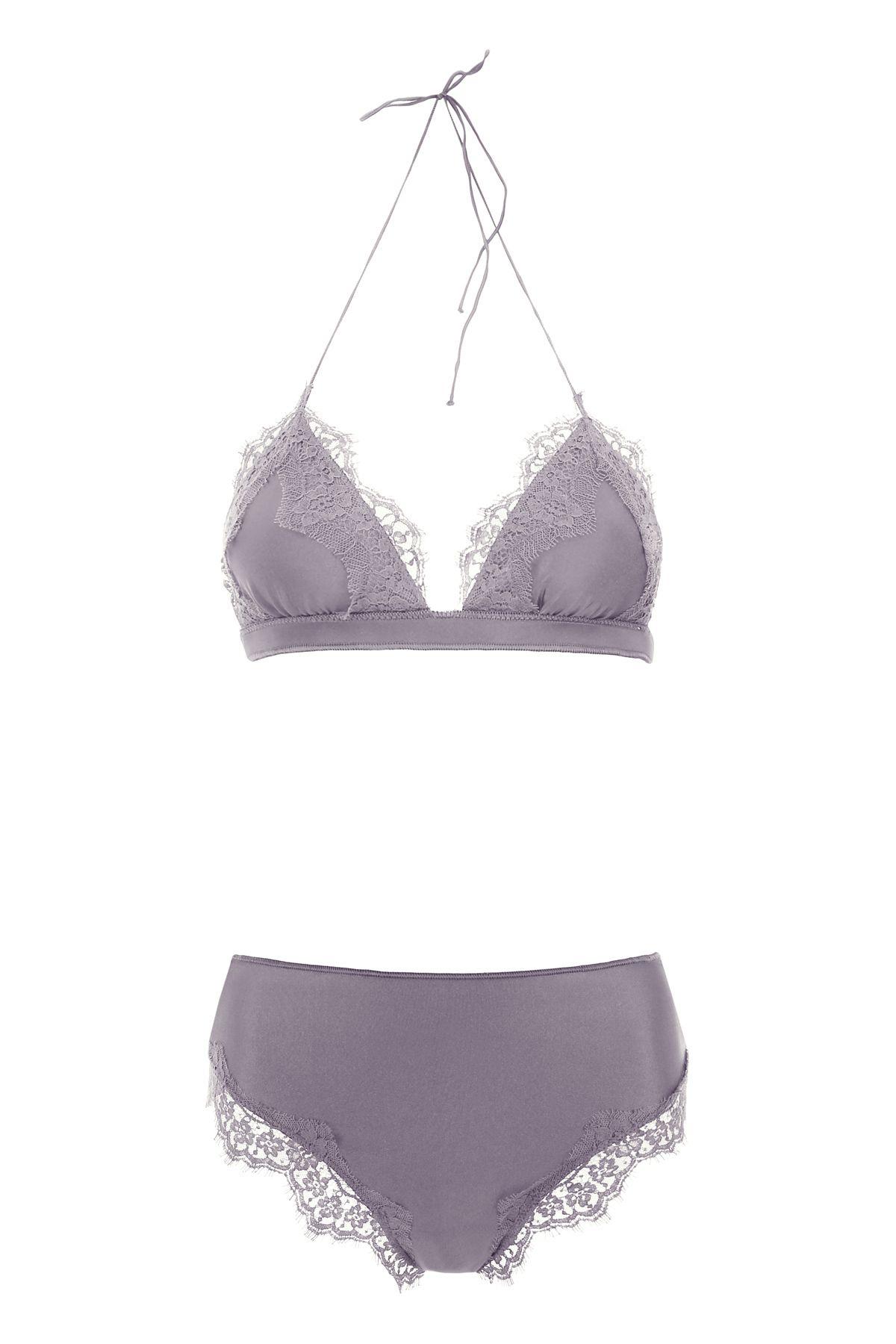 2bad15aca6860 Oseree Oseree Travaillé Bikini With Lace - GREY (Grey) - 10953525 ...