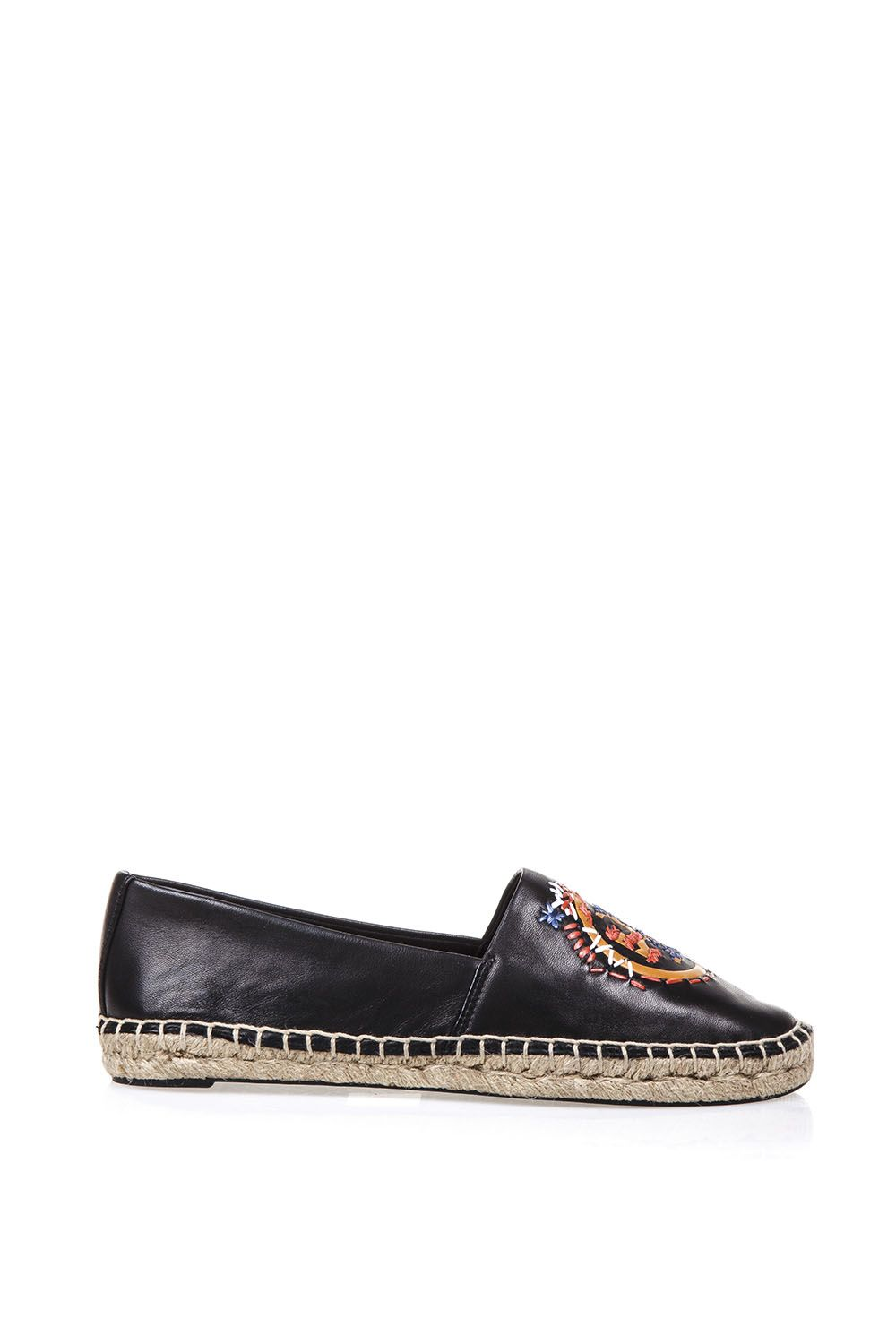 273d6ed2b0d5 Tory Burch Tory Burch Embellished Nappa Leather Espadrilles - Black ...