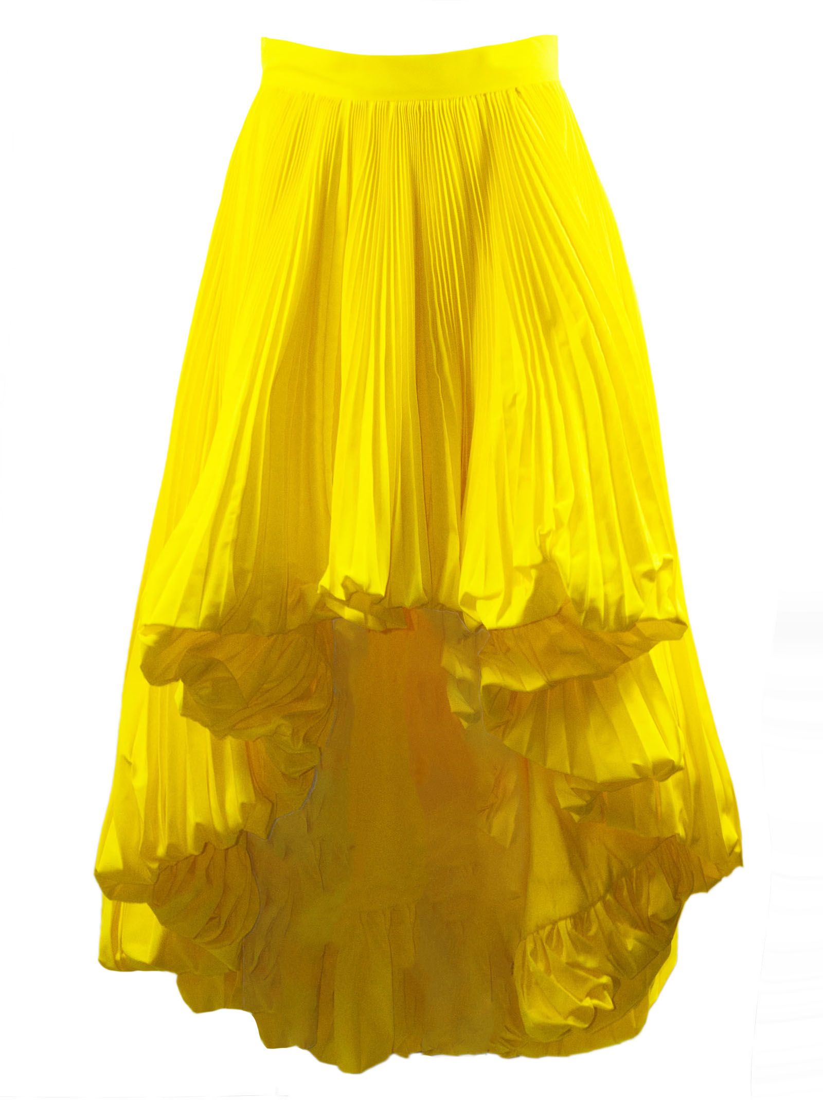 a20bfde0fe Alexandre Vauthier Alexandre Vauthier Yellow Full Pleated Skirt ...