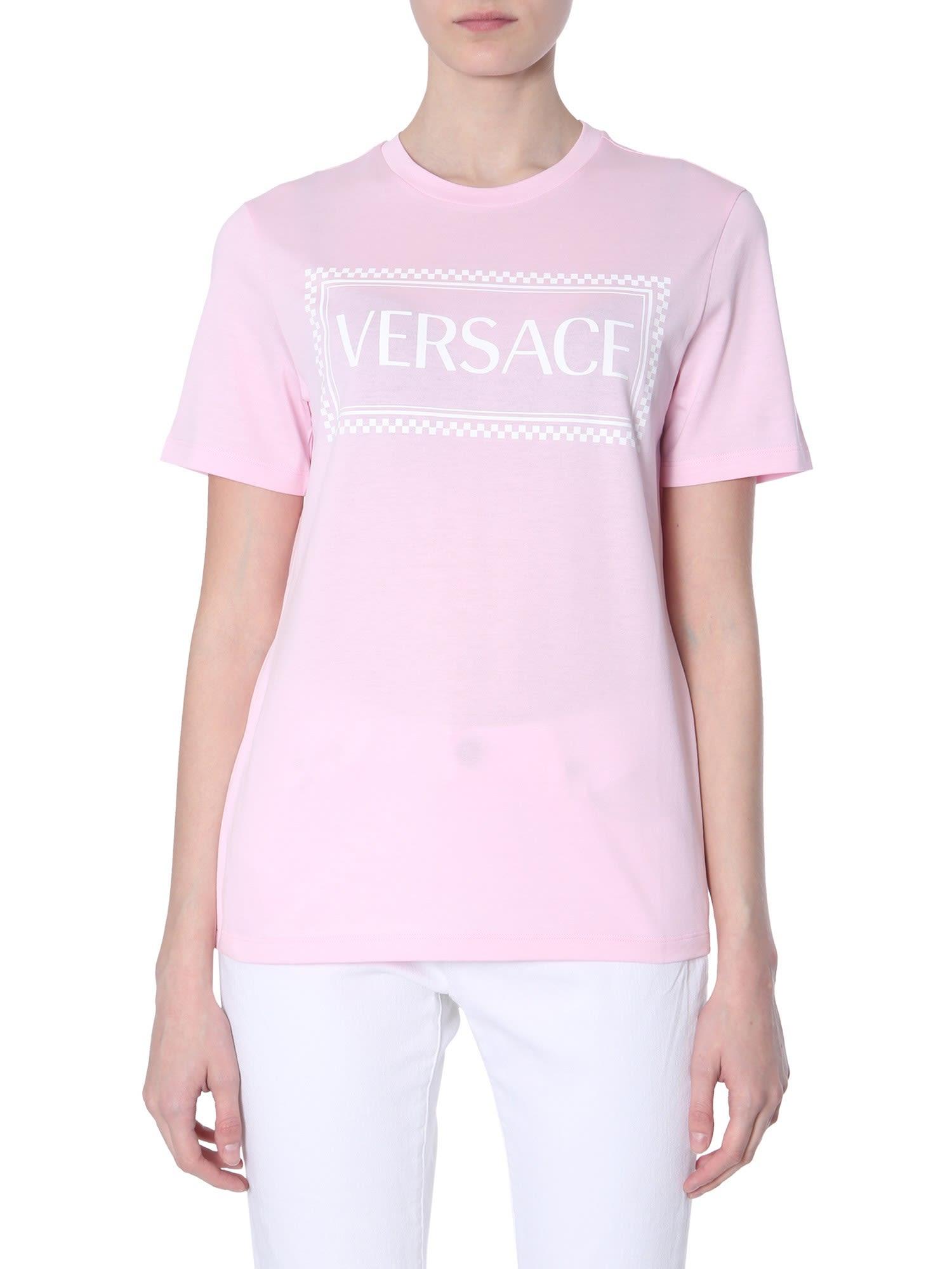 f387a817 Versace Versace 90s Vintage Logo Print T-shirt - Pink - 10924840 ...