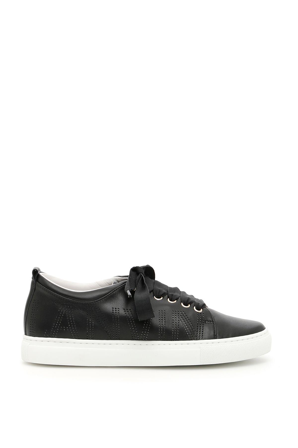 Lanvin Lanvin Logo Sneakers - BLACK|Nero - 10539412 | italist