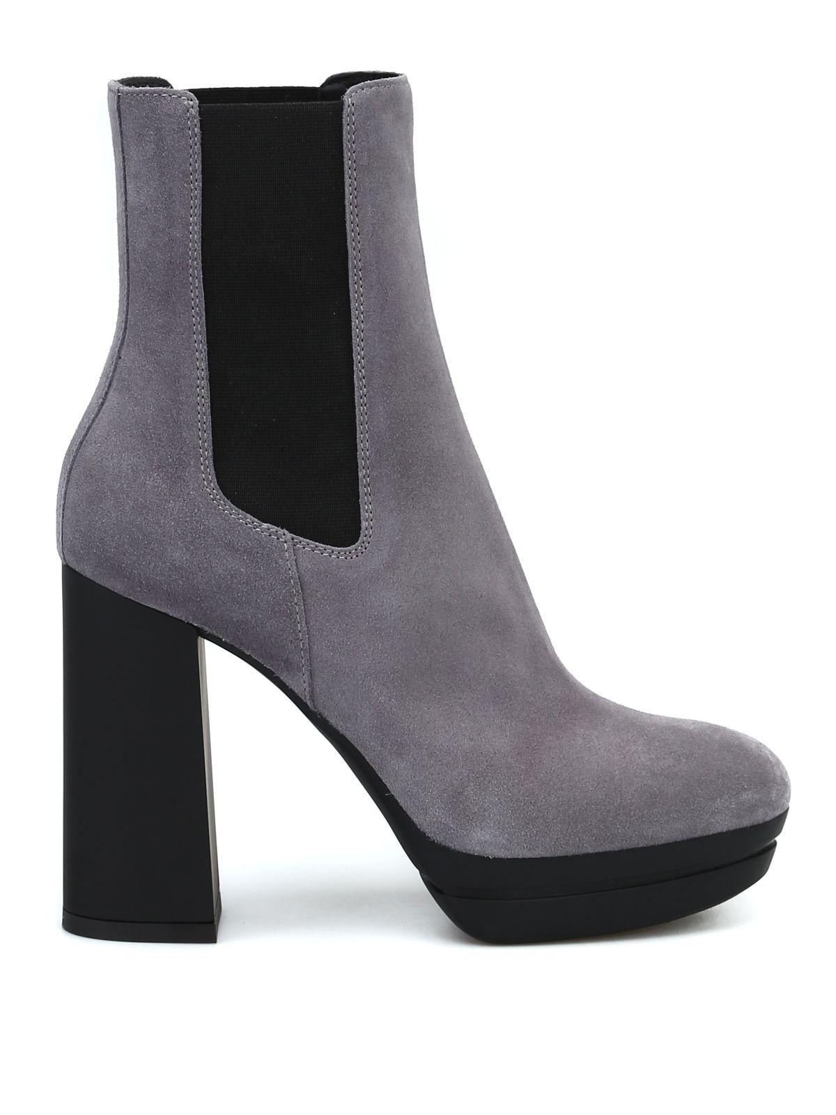 bb674ac219 Hogan Hogan Women's Hogan H391 Ankle Boots - Dark grey - 10711086 ...