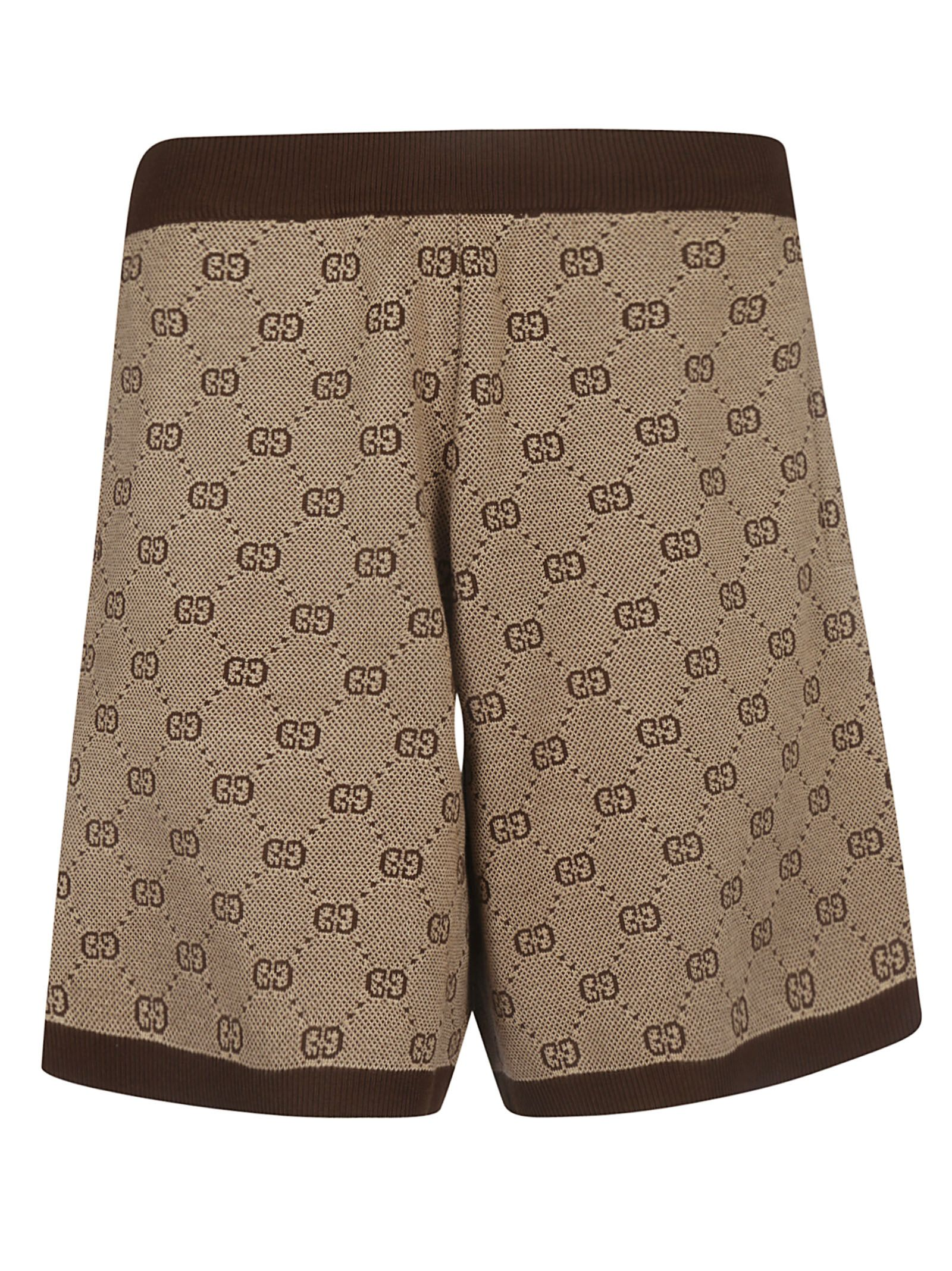9309311d782 Gucci Gucci Gg Jacquard Knit Shorts - Camel multicolor - 10920776 ...