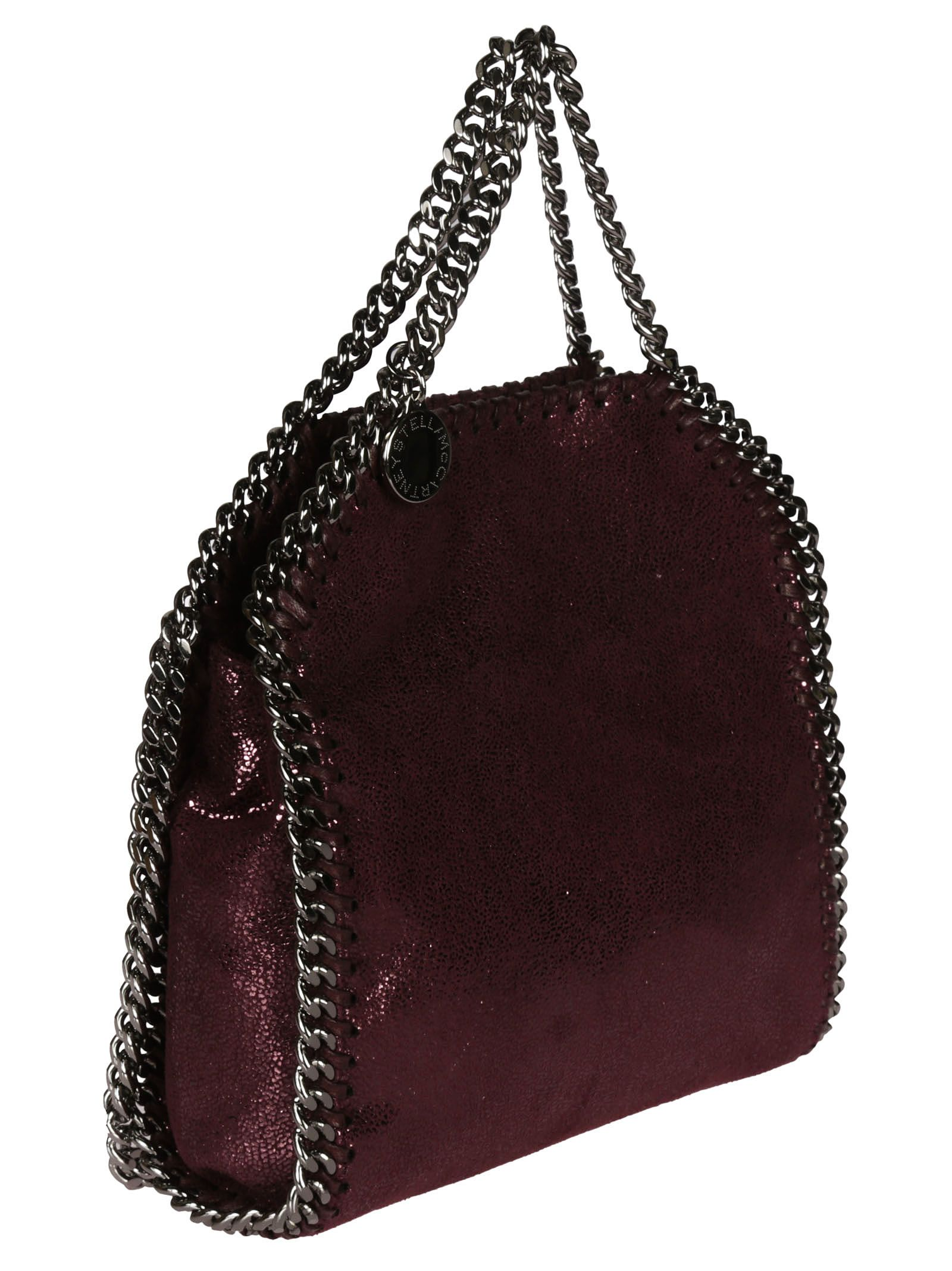 d526069155e5 ... Stella McCartney Falabella Shiny Dotted Chamois Tiny Tote - Indian Red  ...