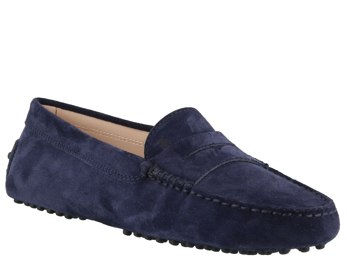 3c133545ce0 Tod s Gommino Suede Loafers - Blue Tod s Gommino Suede Loafers - Blue ...