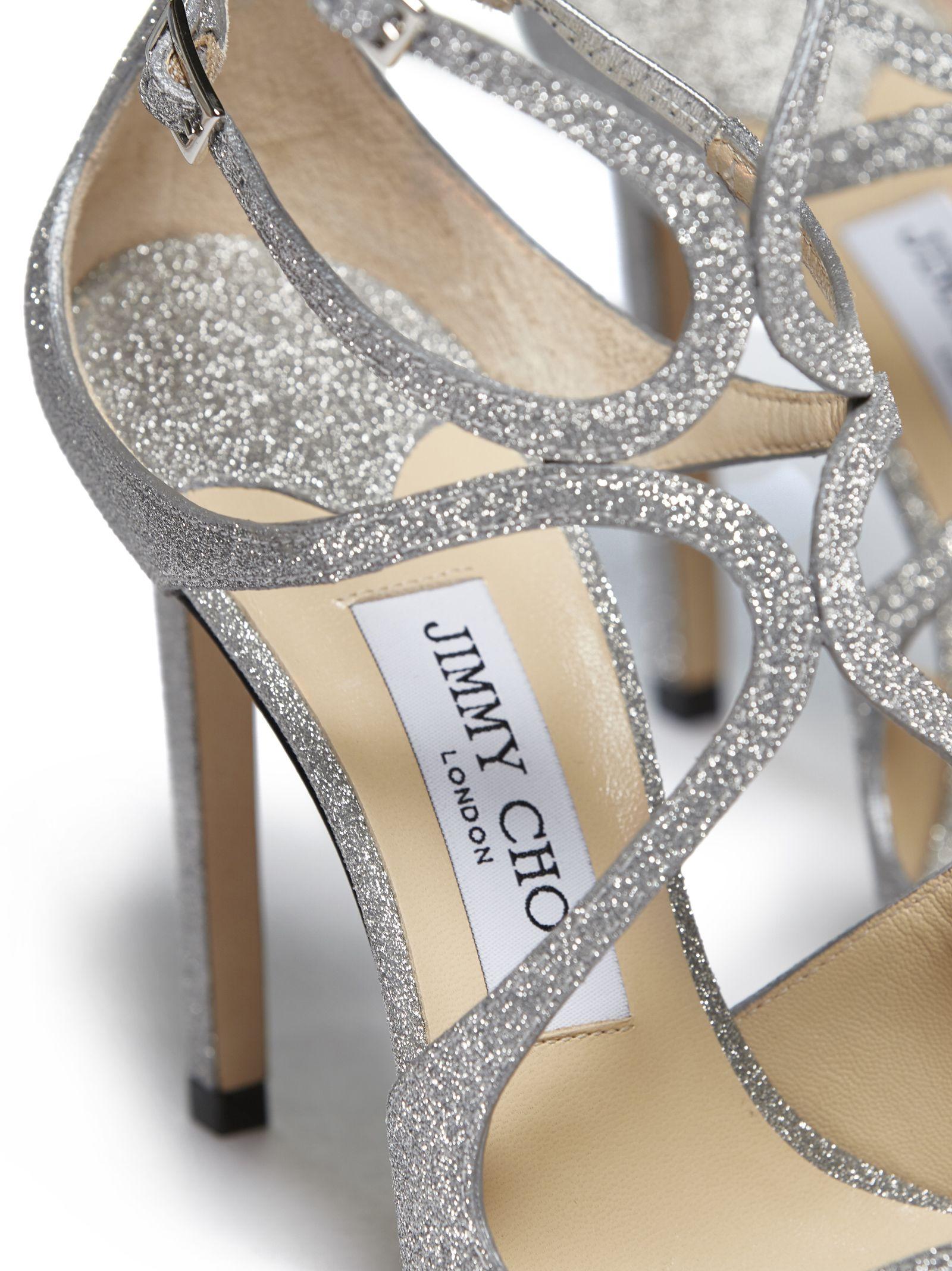 d5c6e5d1ba24 Jimmy Choo Jimmy Choo Lang Sandals - Silver - 10776162