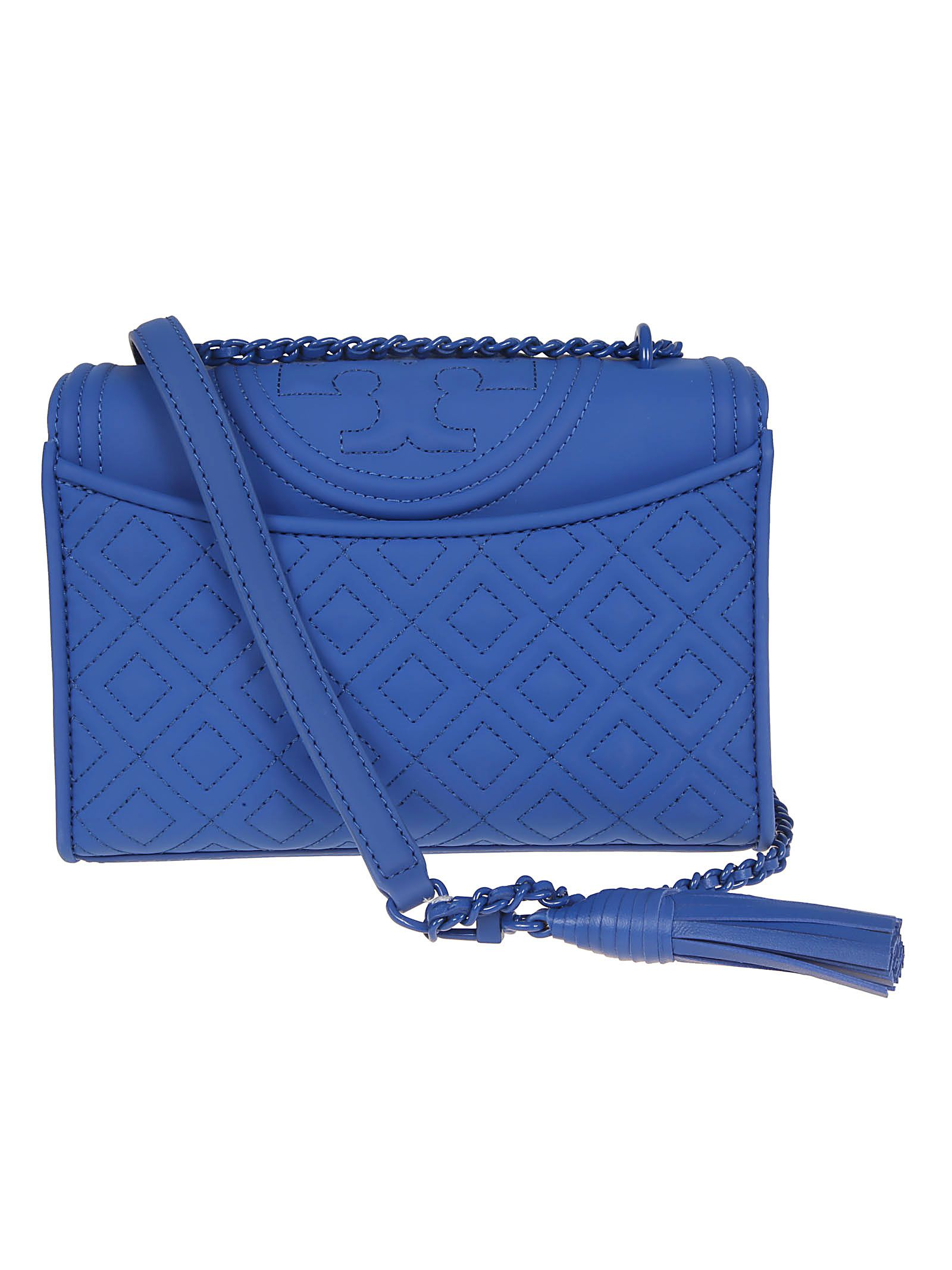 4ce34c959d1d ... Tory Burch Fleming Matte Small Convertible Shoulder Bag - Mediterranean  Blue ...