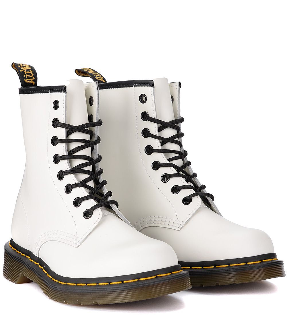 popular brand reasonable price incredible prices Dr. Martens 1460 Smooth White Leather Ankle Boots