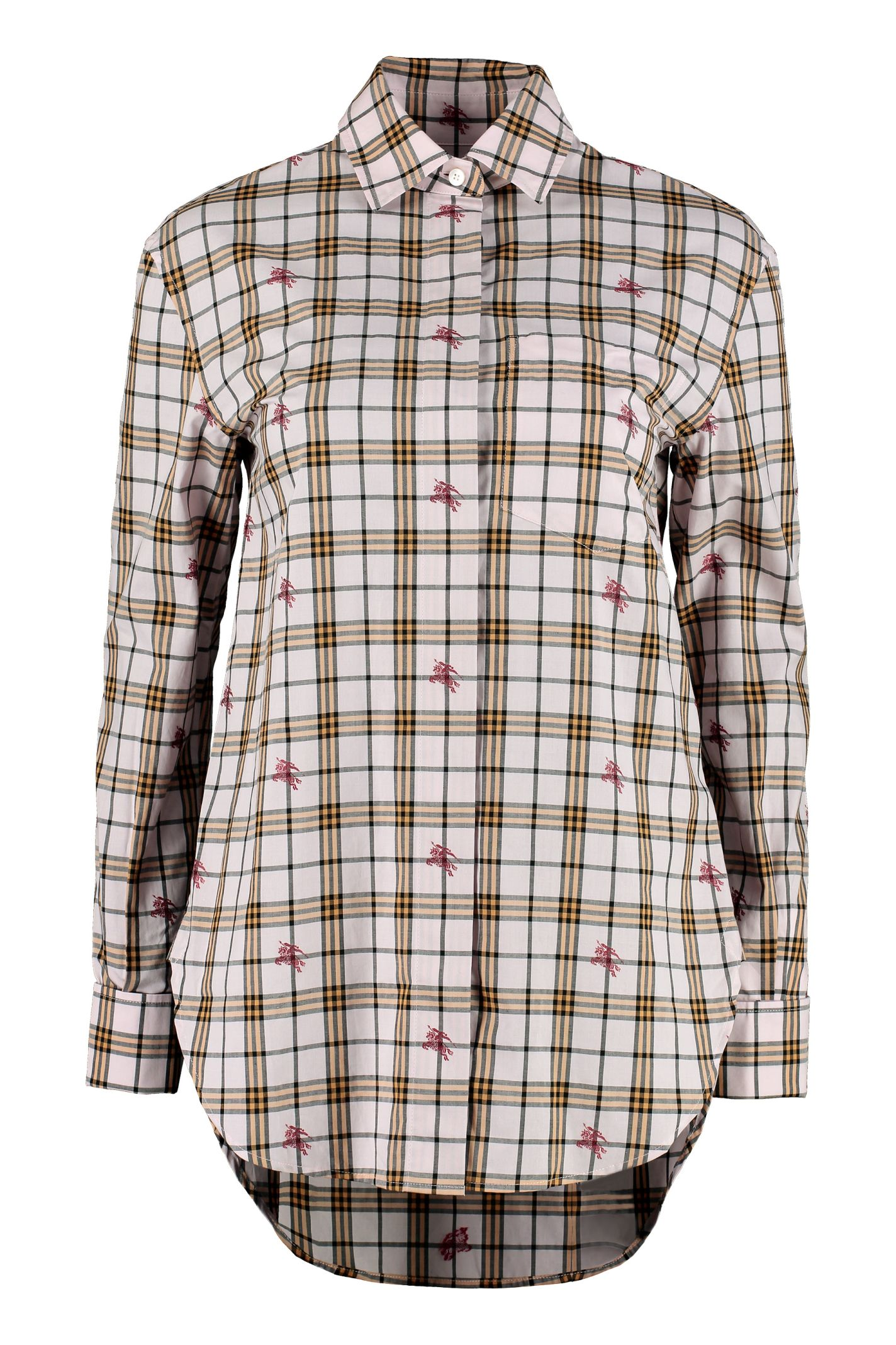 01bed5cd4ff0 Burberry Burberry Checked Cotton Shirt - Pink - 10883573
