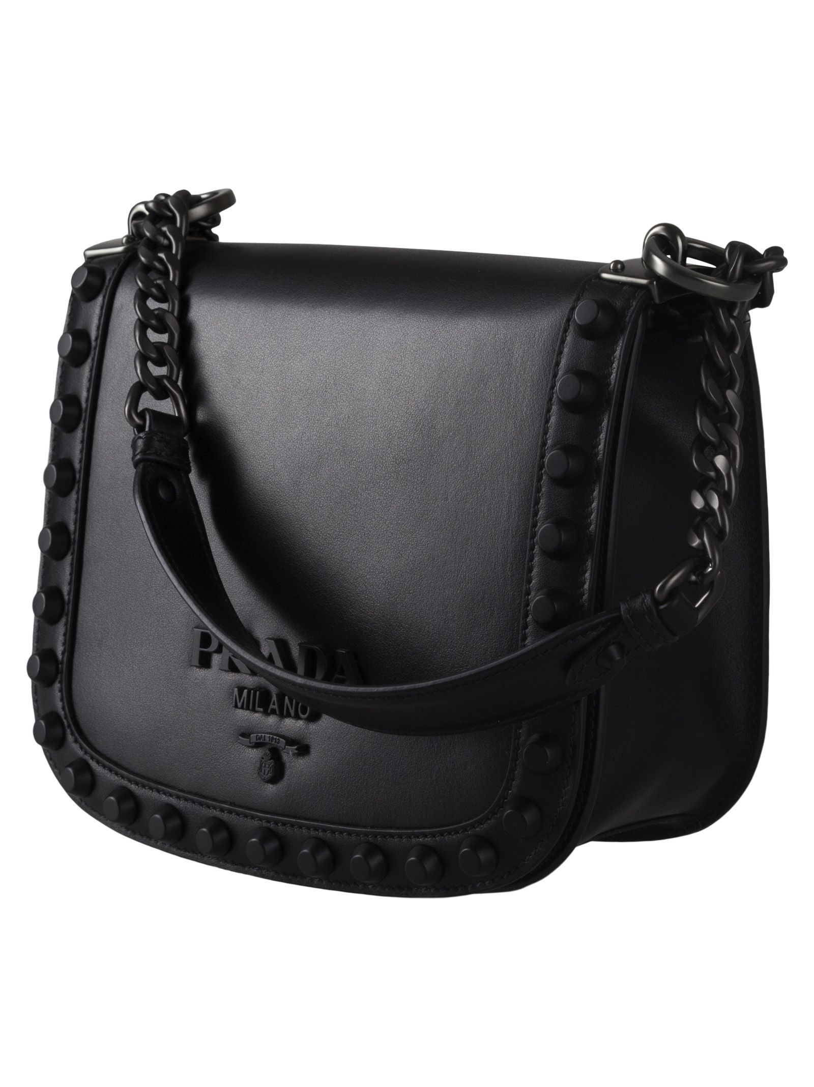 87f81f2753ce Prada Prada Studded Shoulder Bag - Basic - 10707816