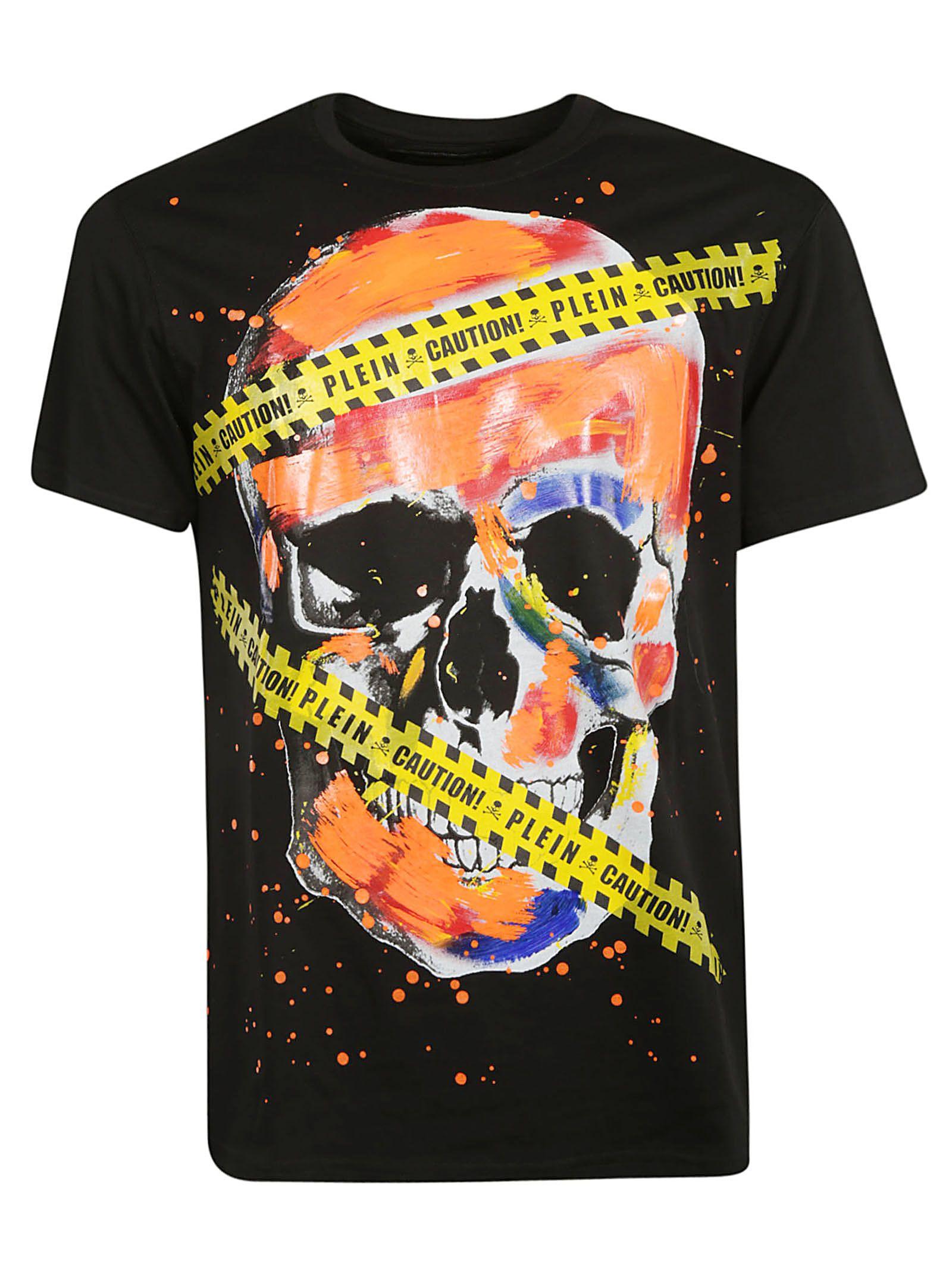 01fa2595c9 Philipp Plein Philipp Plein Platinum Cut Skull Print T-shirt - Black ...