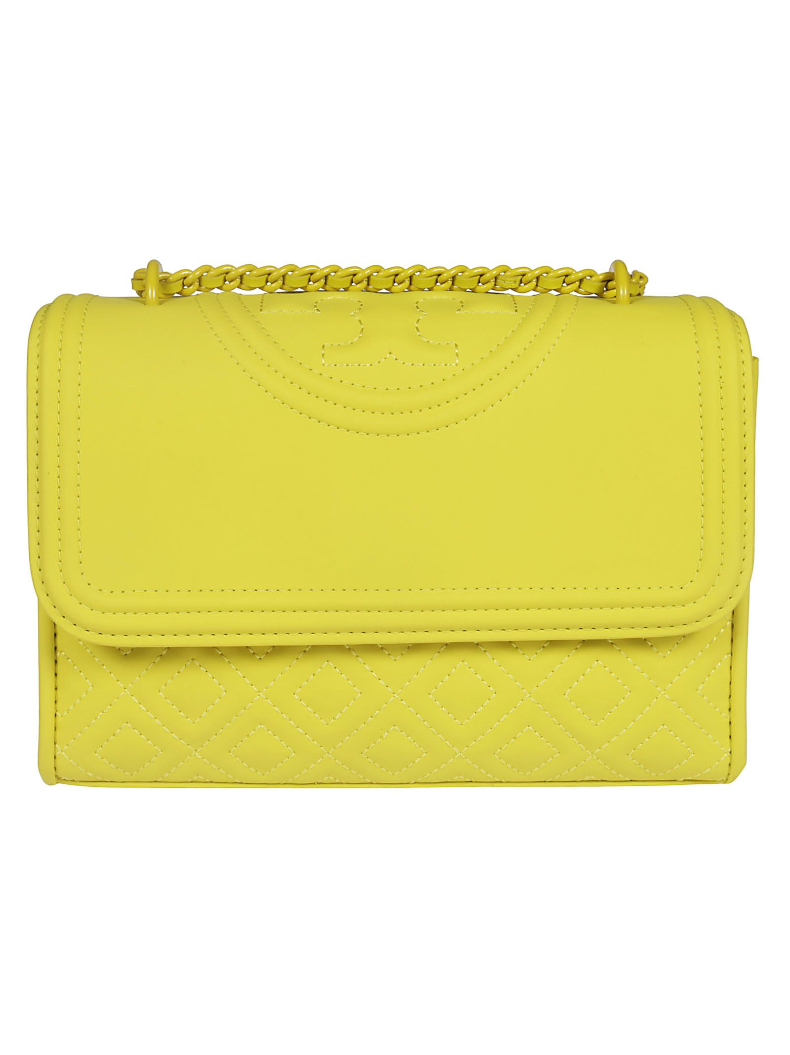 c2b26538915 Tory Burch Tory Burch Fleming Embossed Logo Shoulder Bag - Yellow ...
