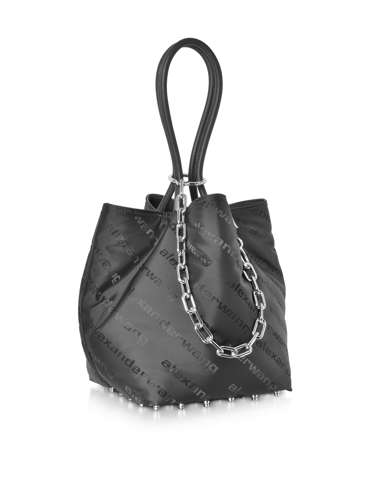 3ffe880cd6ff ... Alexander Wang Black Aw Signature Roxy Soft Small Tote Bag - Black ...