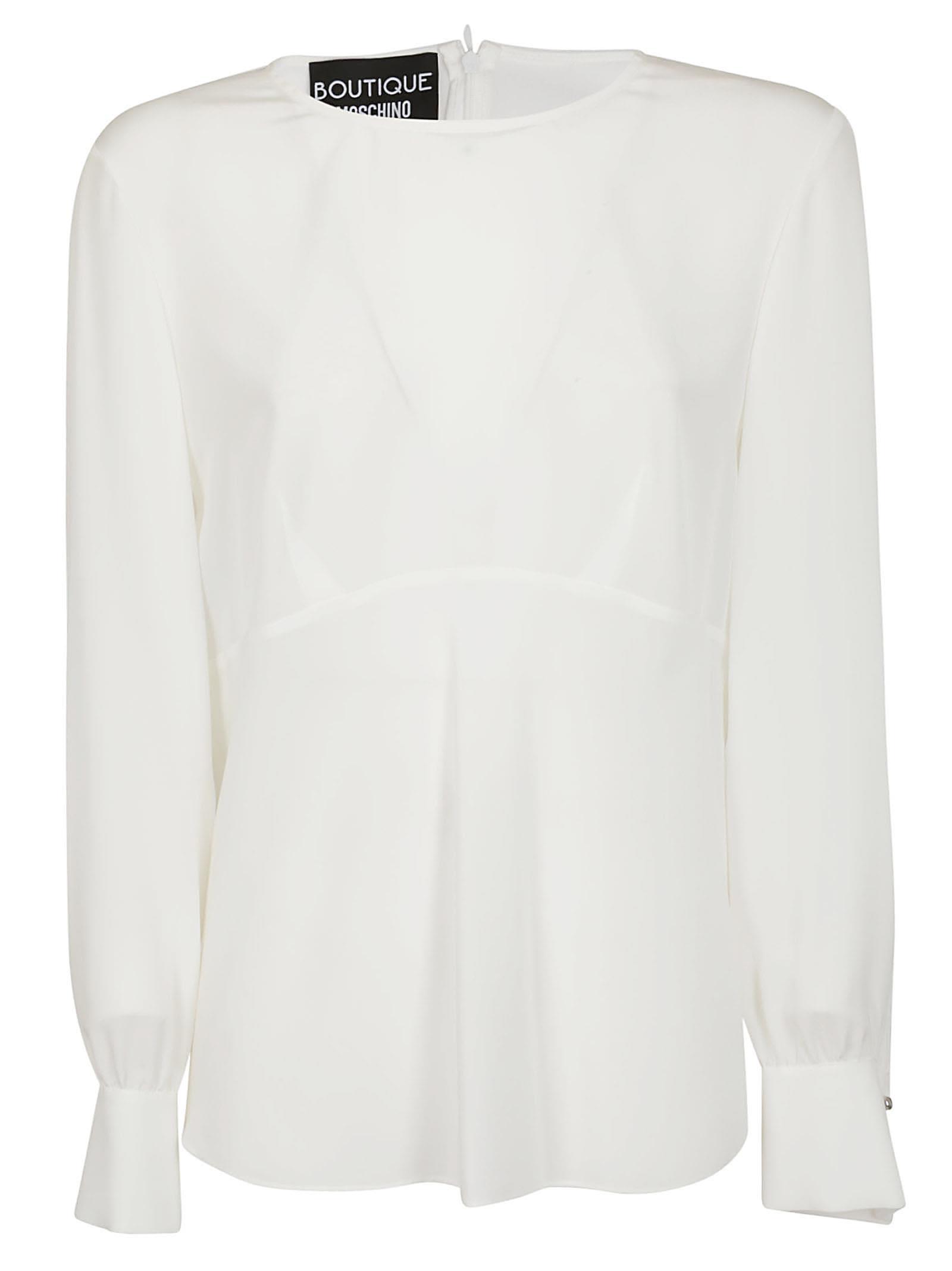 e968bb2fd0168 Boutique Moschino Boutique Moschino Back-zipped Blouse - White ...