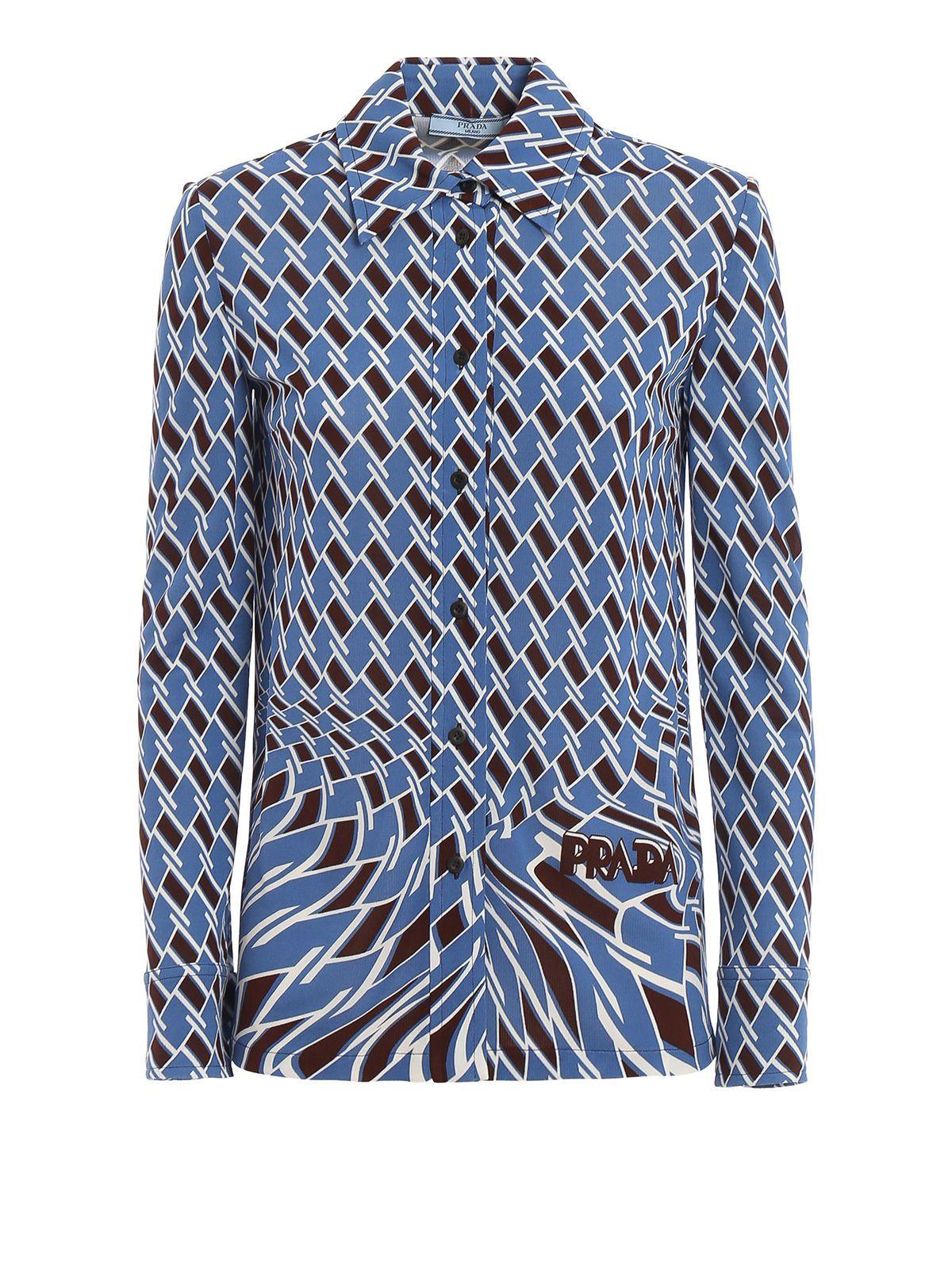 963ca950e Prada Prada Geometric Shirt - Pervinca - 10876772 | italist