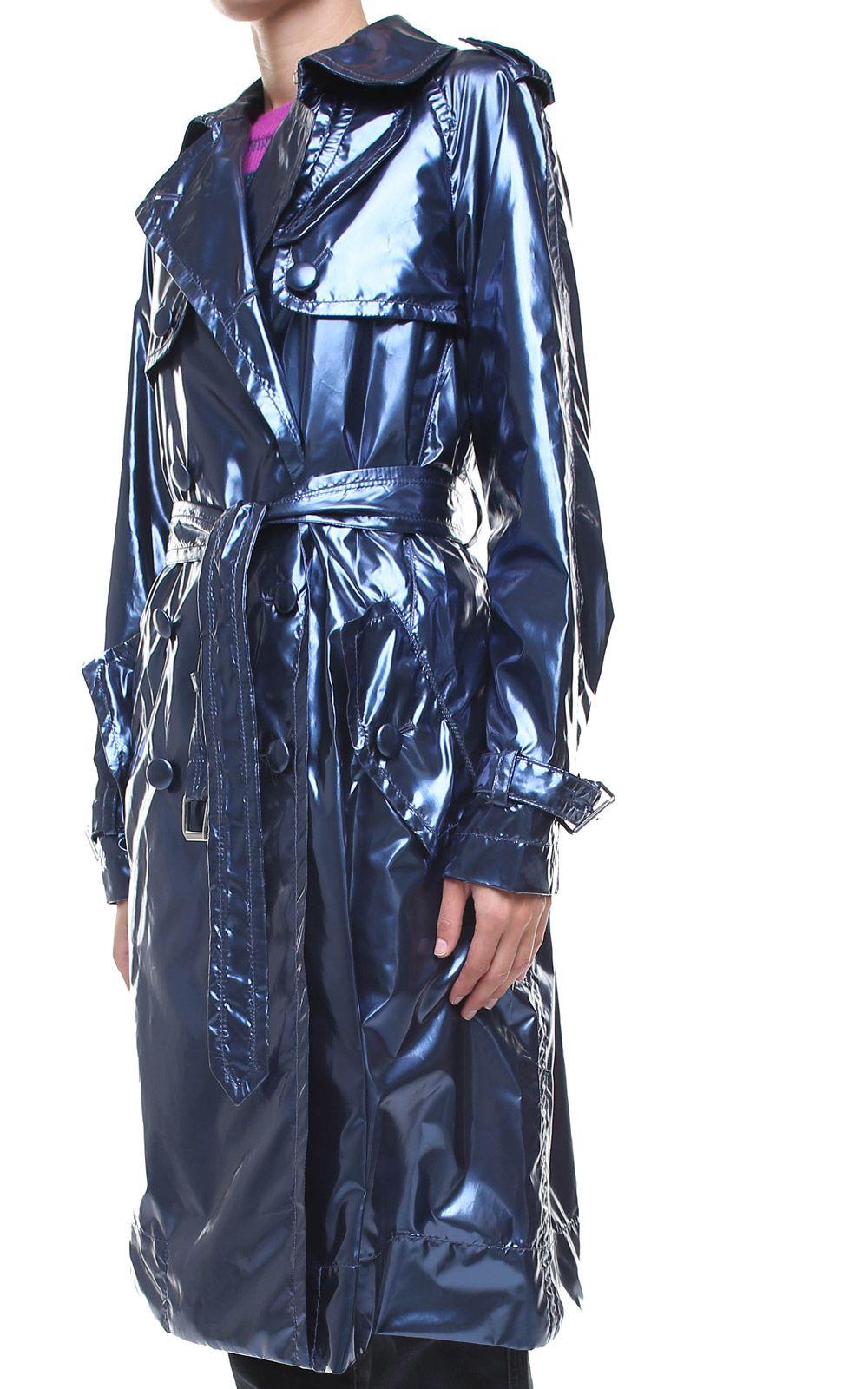 Marc Jacobs Marc Jacobs Belted Metallic Vinyl Trench Coat