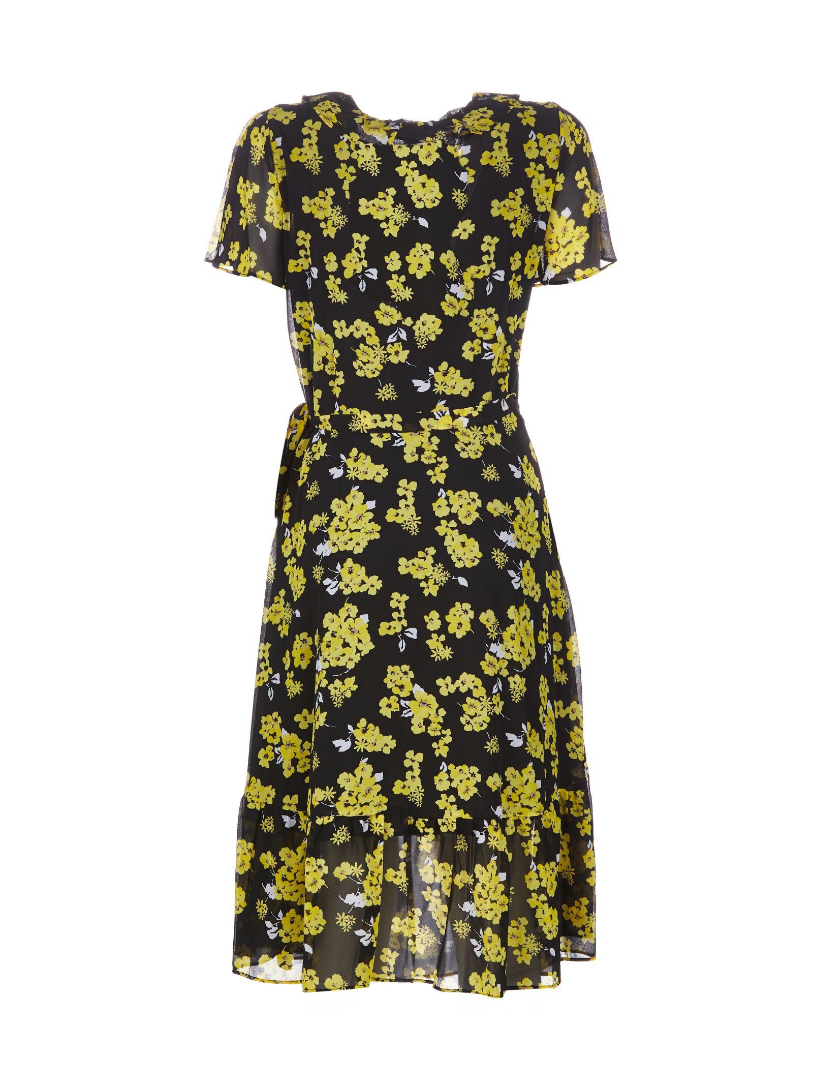 d3c159b6b50 MICHAEL Michael Kors Michael Michael Kors Floral Dress - Nero giallo ...