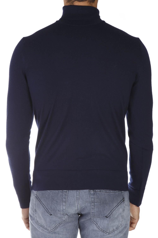 8061478231124 Calvin Klein Calvin Klein Navy Wool Turtle Neck Sweater - Navy ...