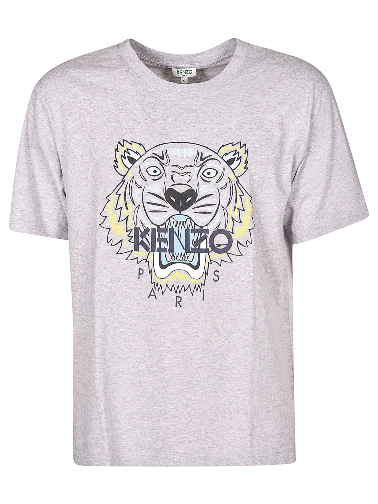 cf11763f Kenzo Kenzo Tiger Logo Print T-shirt - Gray - 10870388 | italist
