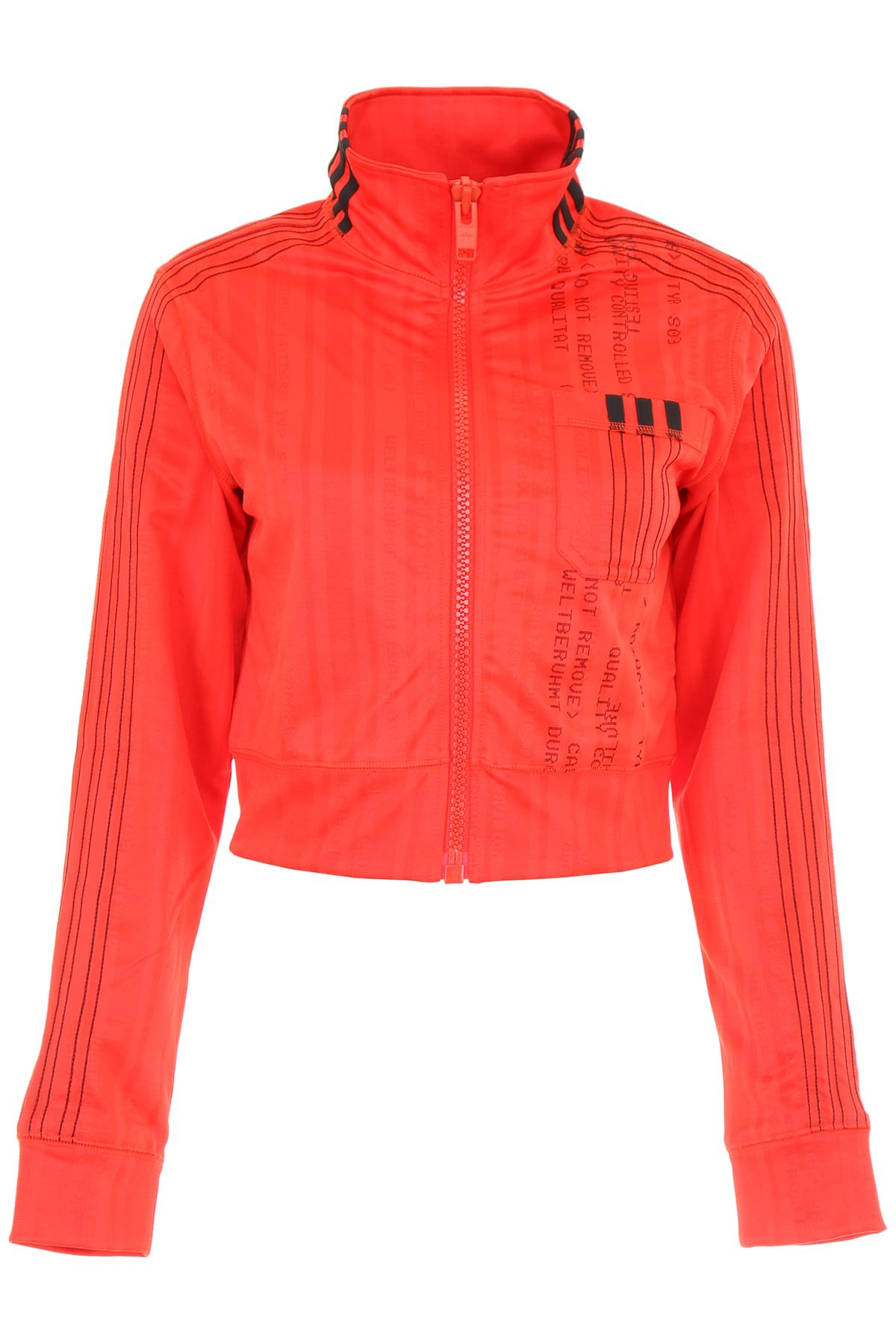 80cbc2c9d55 Adidas Originals by Alexander Wang Cropped Track Jacket - CORRED BLACK  (Red) ...