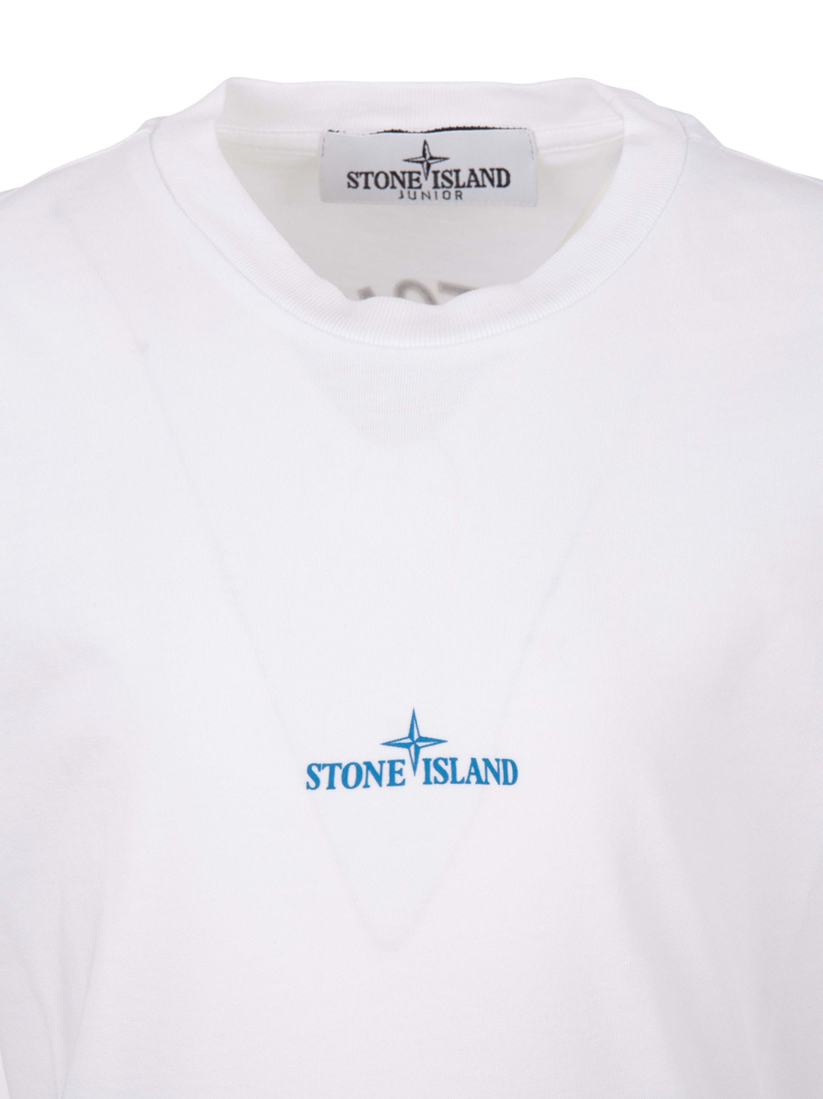 e92f74d70f8a Stone Island Junior Stone Island Kids T-shirt - White - 10907526 ...