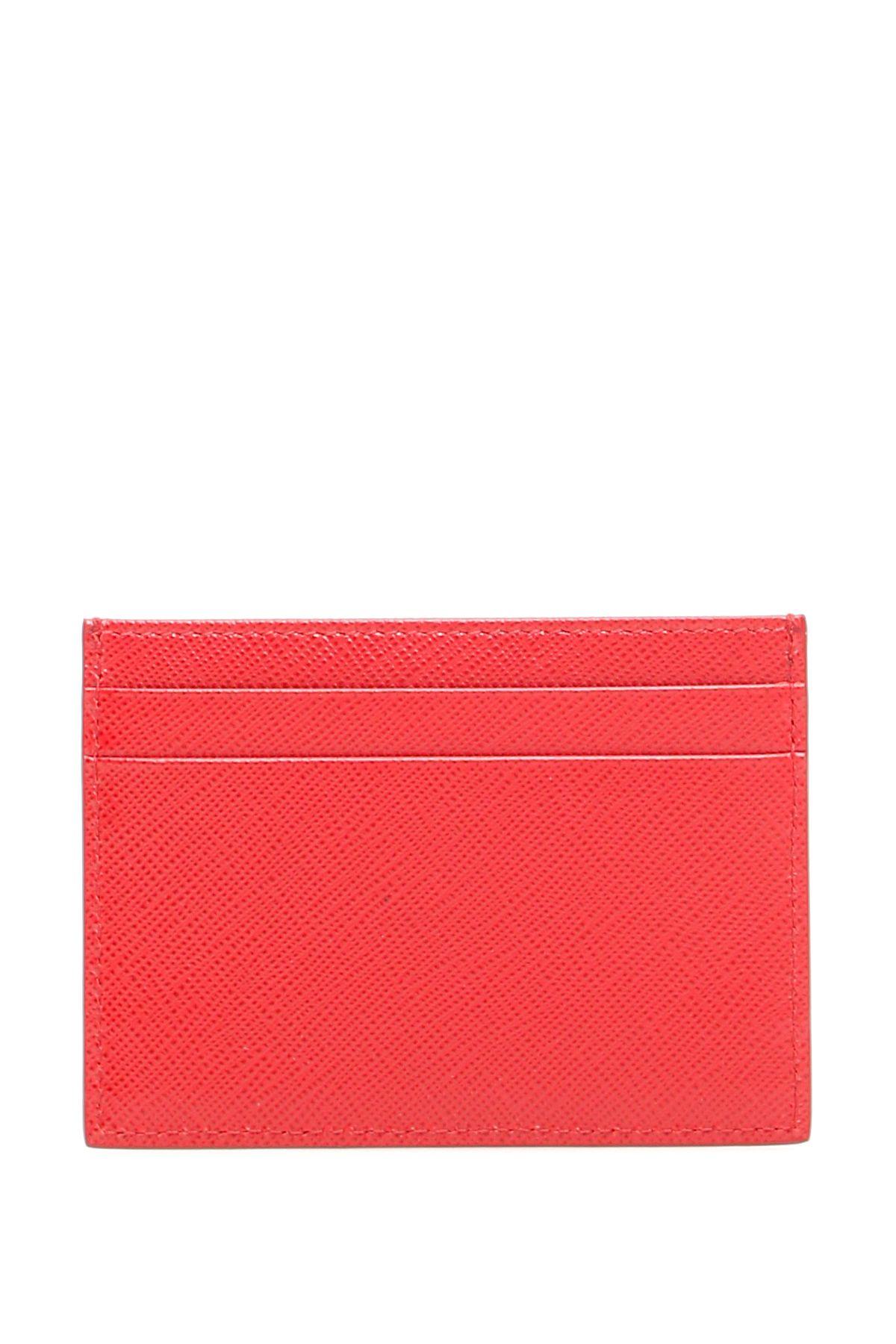 95f1247bed74 Prada Prada Credit Card Holder With Fish Print - FUOCO NERO (Red ...