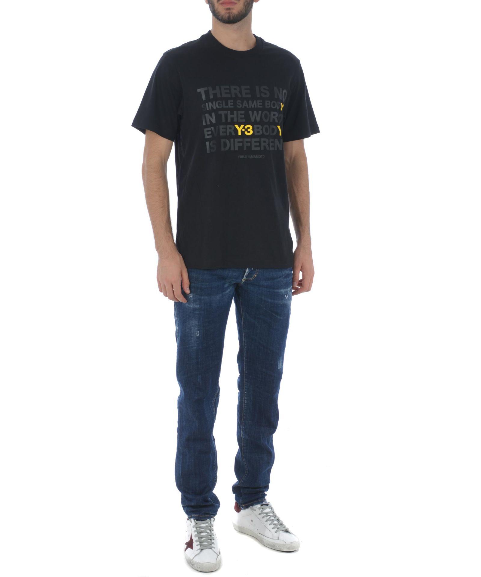03b2382c493f6 Y-3 Y-3 Tonal Slogan T-shirt - Nero - 10744942