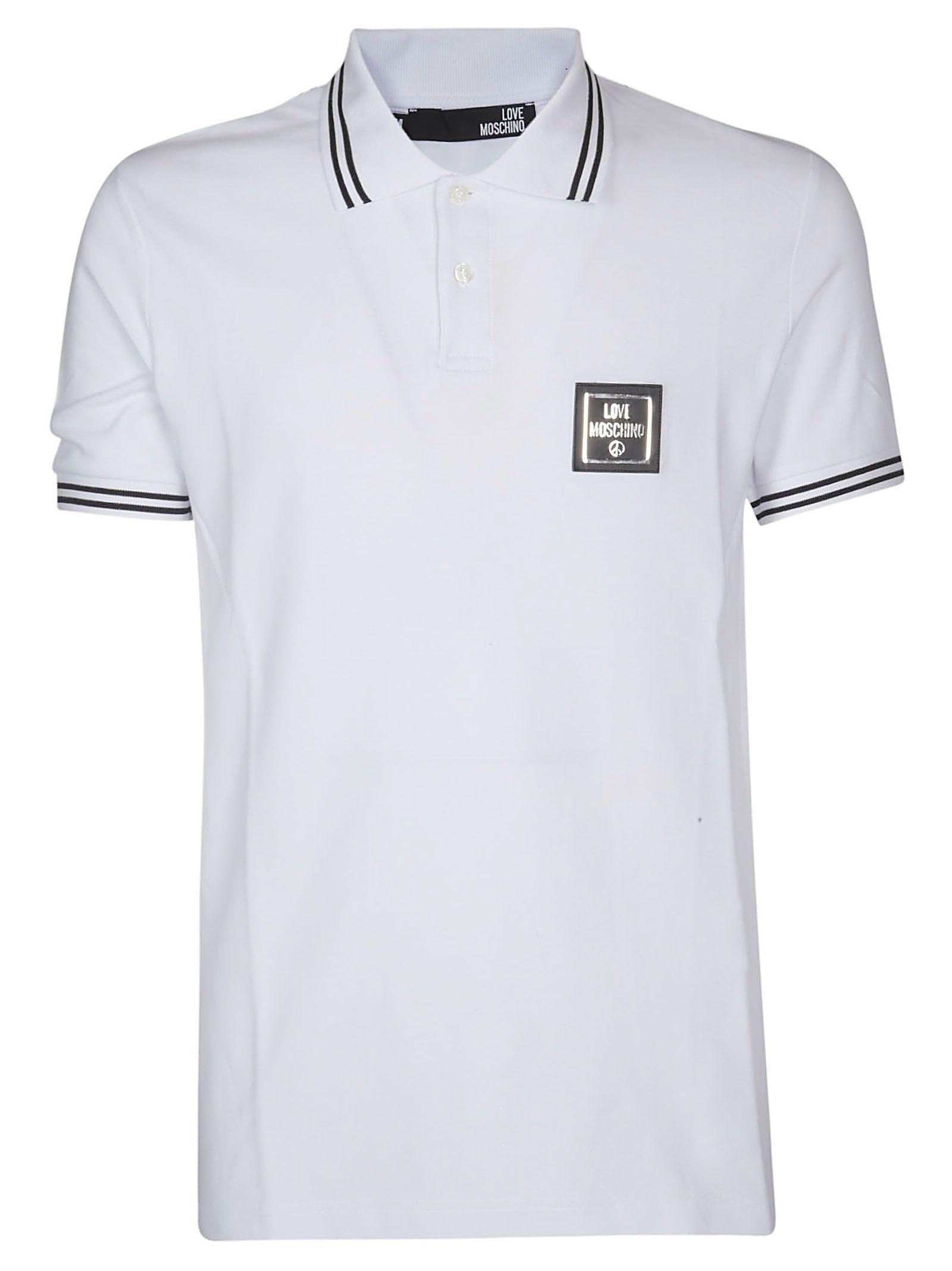 ad4b2638e Love Moschino Love Moschino Logo Patch Polo Shirt - White - 10936883 ...