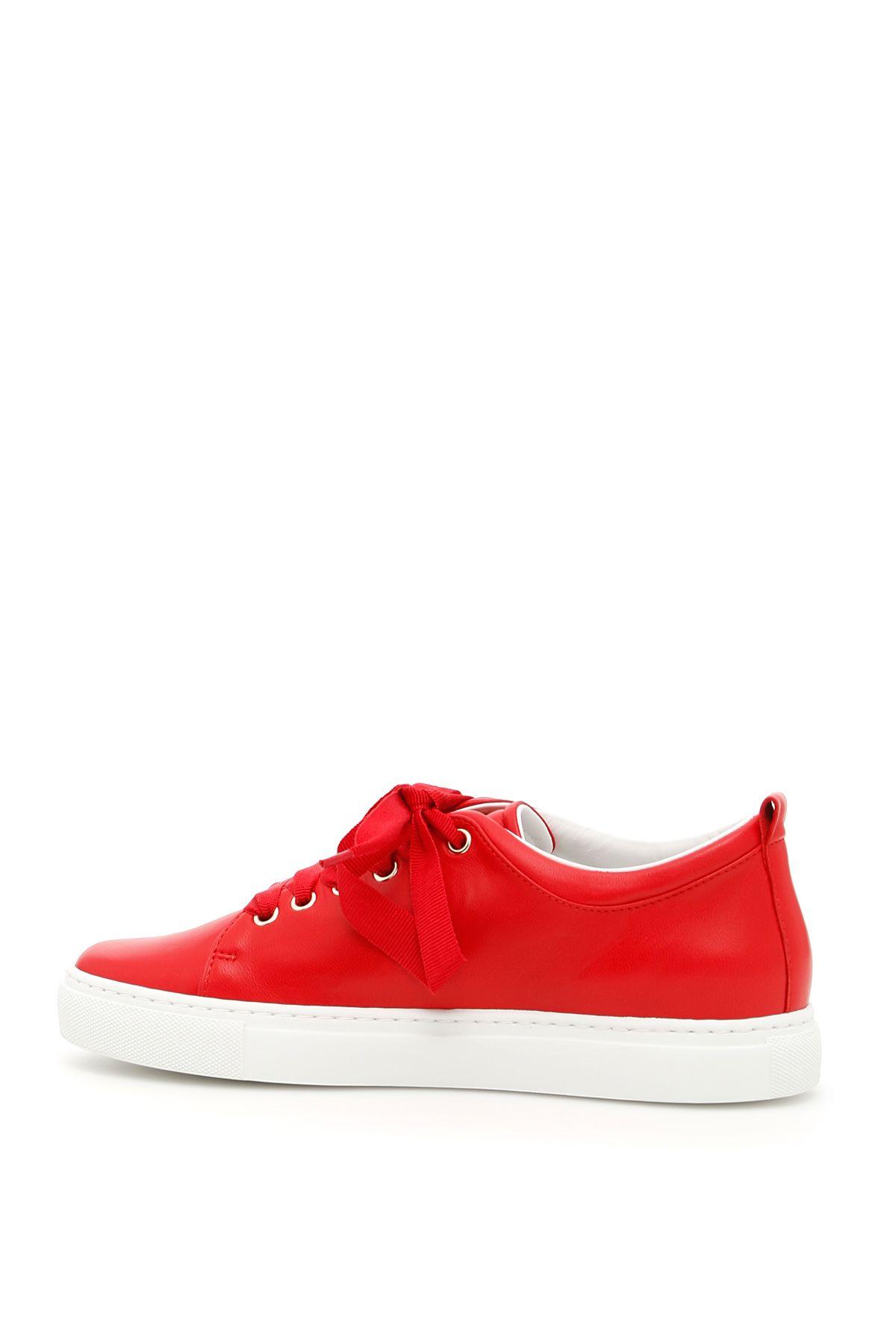 Lanvin Lanvin Logo Sneakers - RED LIPSTICK|Rosso ...