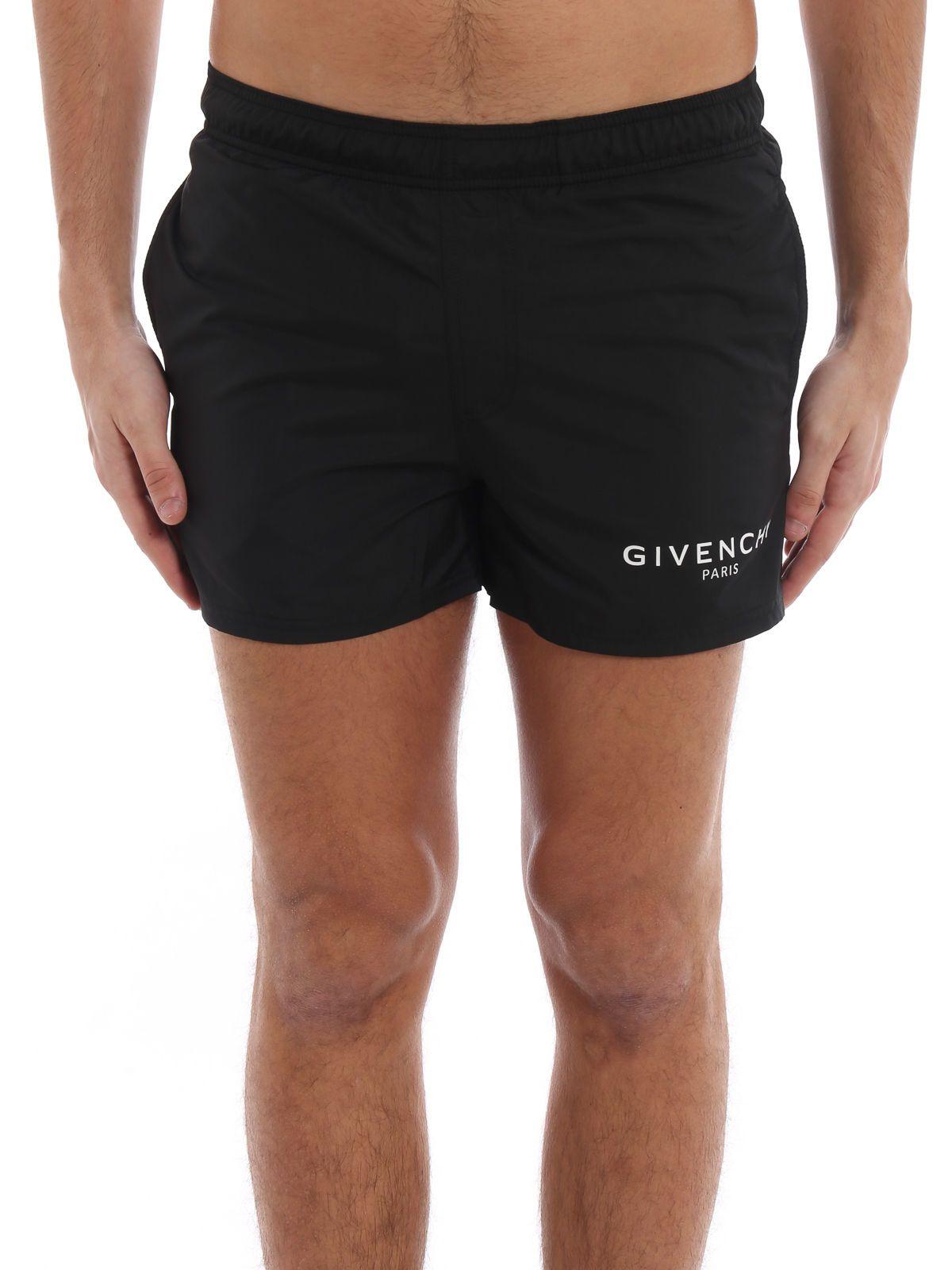 429058f6c50fd6 Givenchy Givenchy Logo Print Swim Shorts - Black - 10862844