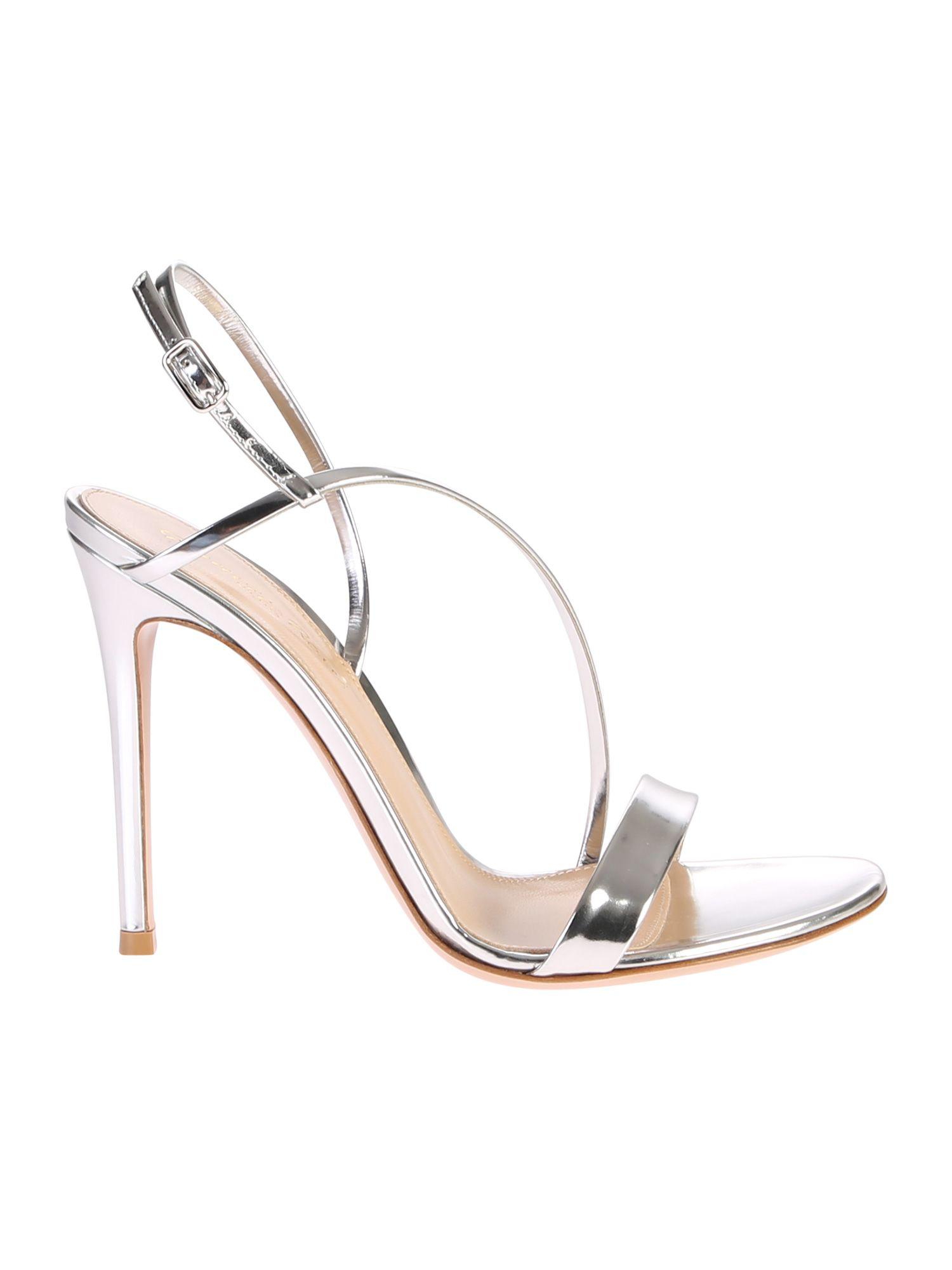b9ebd345733 Gianvito Rossi Gianvito Rossi Metallic Sandals - Basic - 10830361 ...