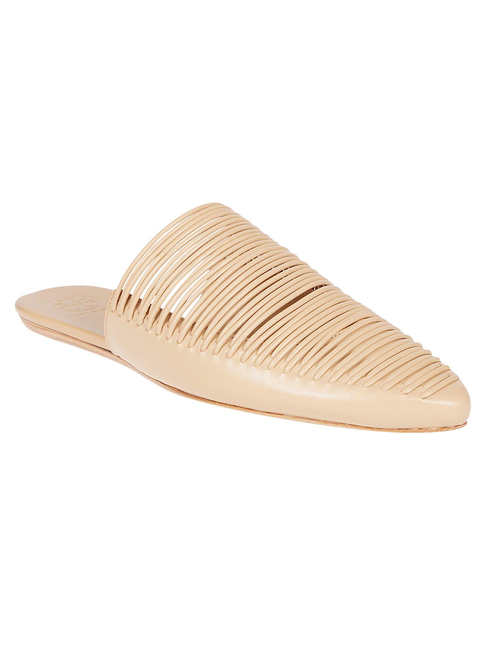 2304141ab623 Tory Burch Tory Burch Sienna Flat Sandals - Natural Vachetta ...