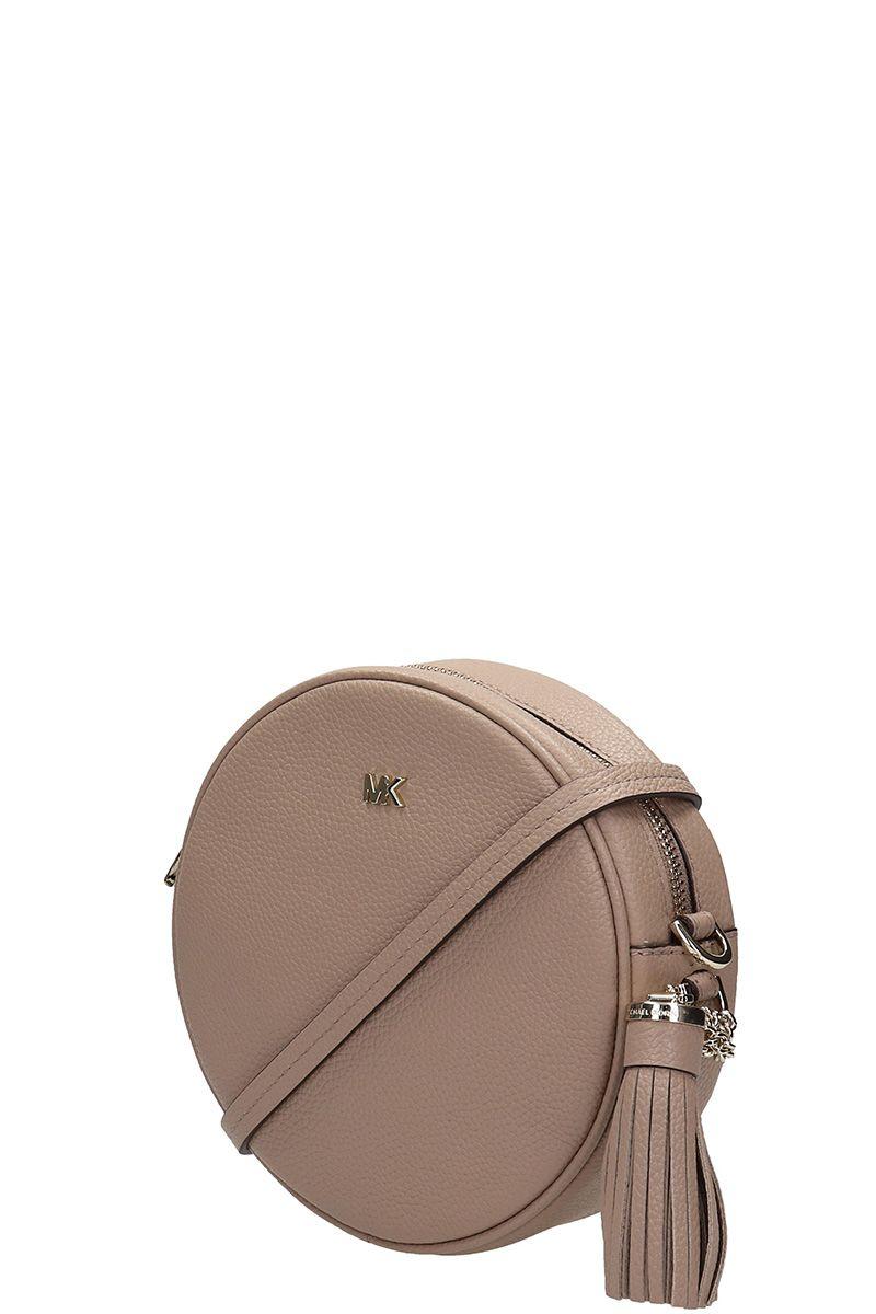 9204e752d053b Michael Kors Michael Kors Pebbled Leather Canteen Crossbody - Beige ...