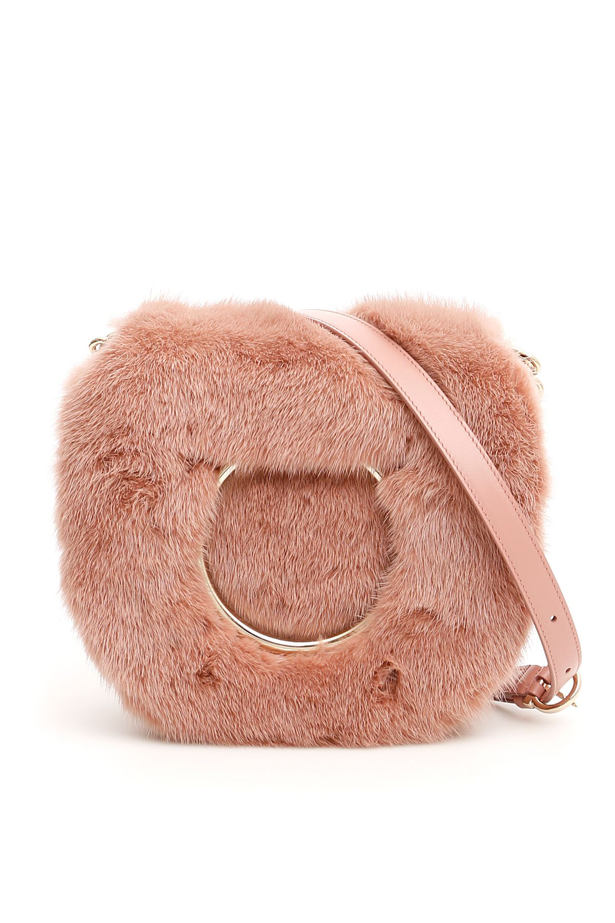 Salvatore Ferragamo Salvatore Ferragamo Bag With Mink Fur And Maxi ... 86ee6897a25e5