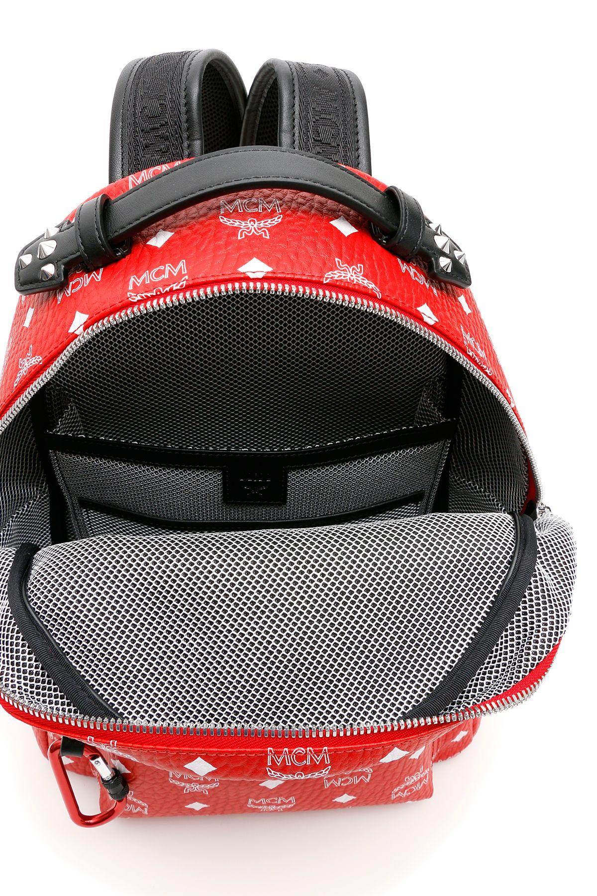 49b1bf851 ... MCM Visetos Stark Backpack - WHITE LOGO VIVA RED (Red) ...