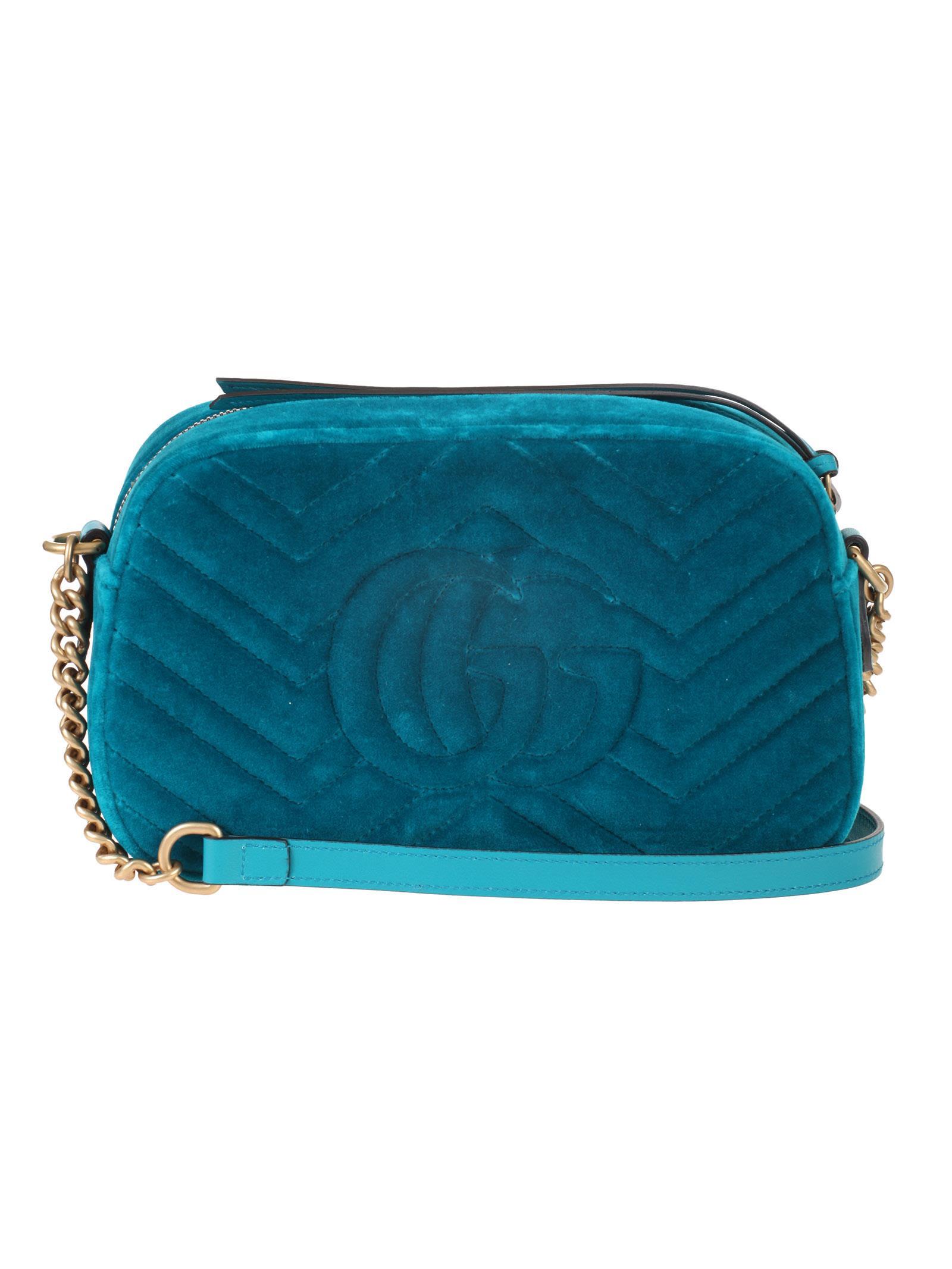 afeb8a09966 Gucci Gucci small shoulder bag GG Marmont - Verde - 10818728