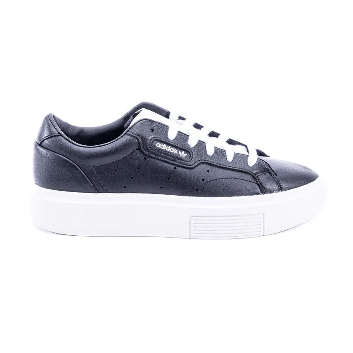 8ddbbffdb Adidas Adidas Sleek Super Leather Sneakers - BLACK - 10990401 | italist
