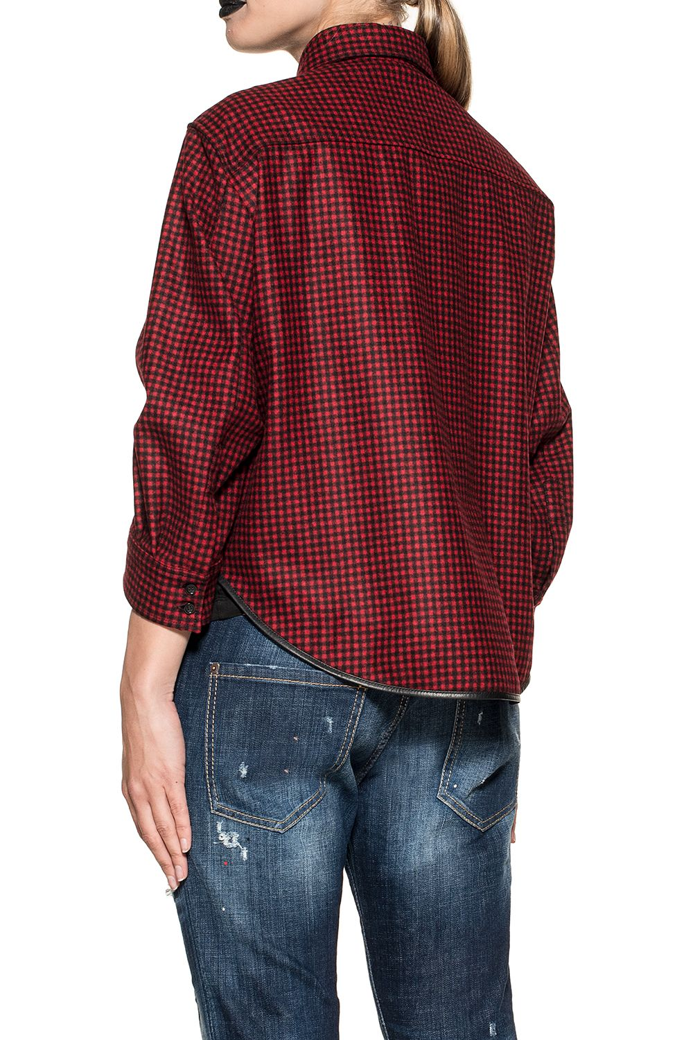 Checked Black Wool Redblack Red Dsquared2 Shirt gqw0Ta