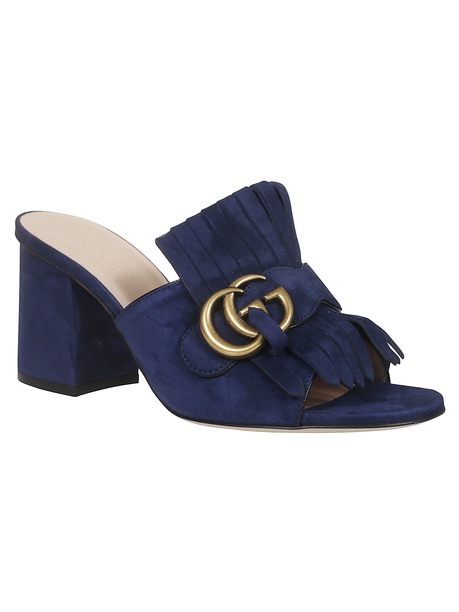 b16a0787820a Gucci Gucci Double G Sandals - Blue Ink - 10920465