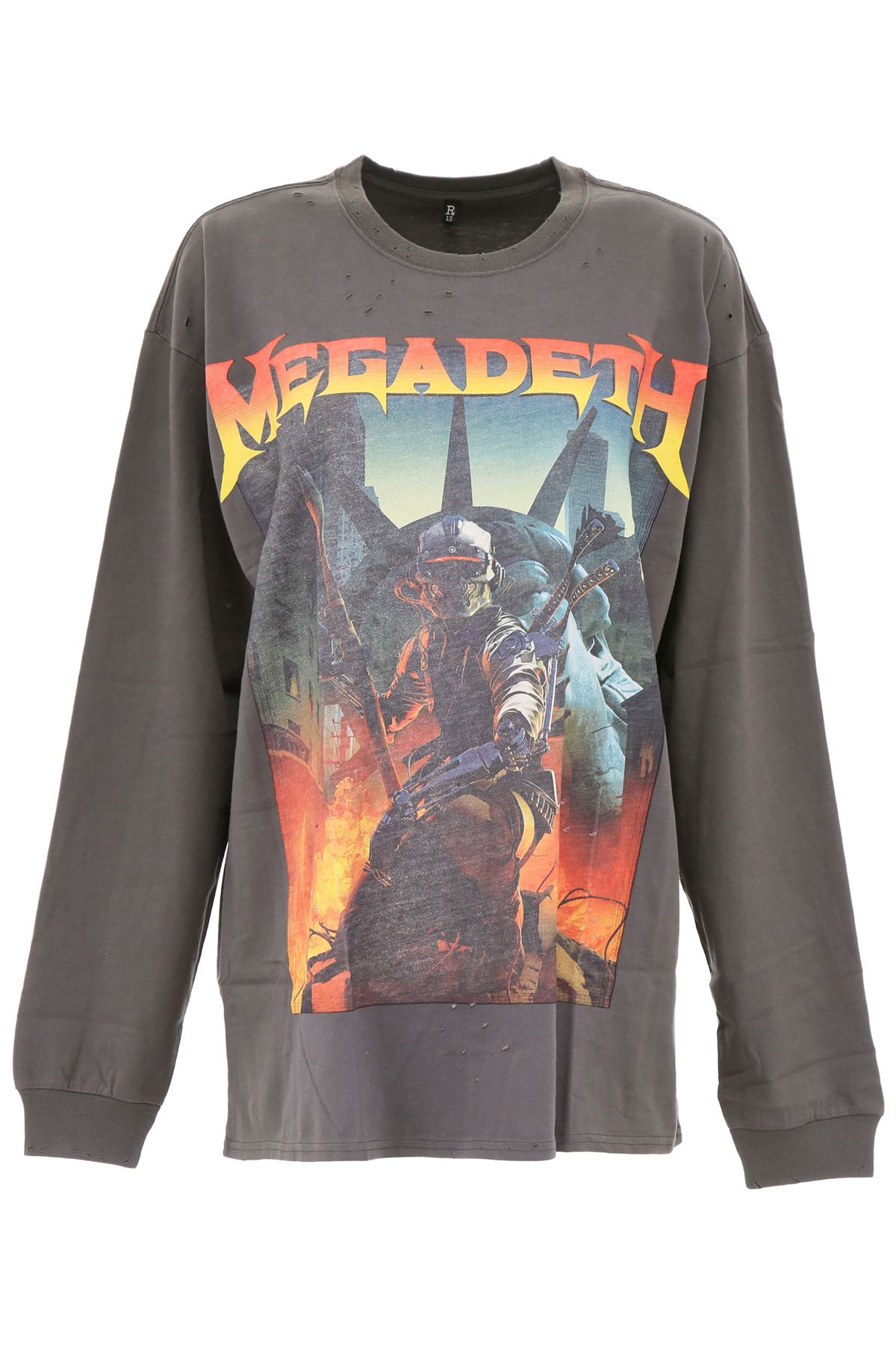 169ef2e010 R13 R13 Megadeth T-shirt - OLD BLACK (Green) - 10719315 | italist