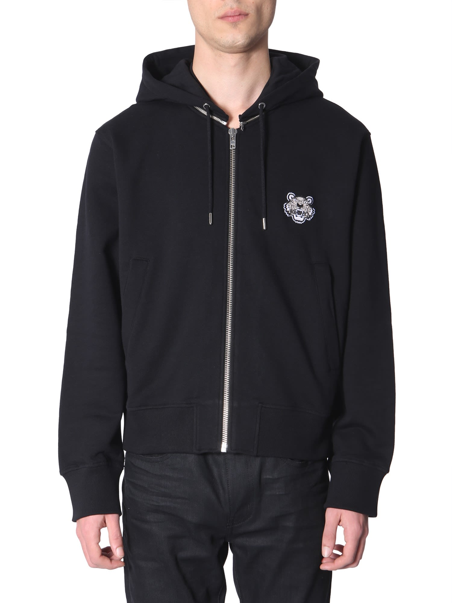 eebeb557d Kenzo Kenzo Zip-up Hooded Sweatshirt - NERO - 10848221 | italist