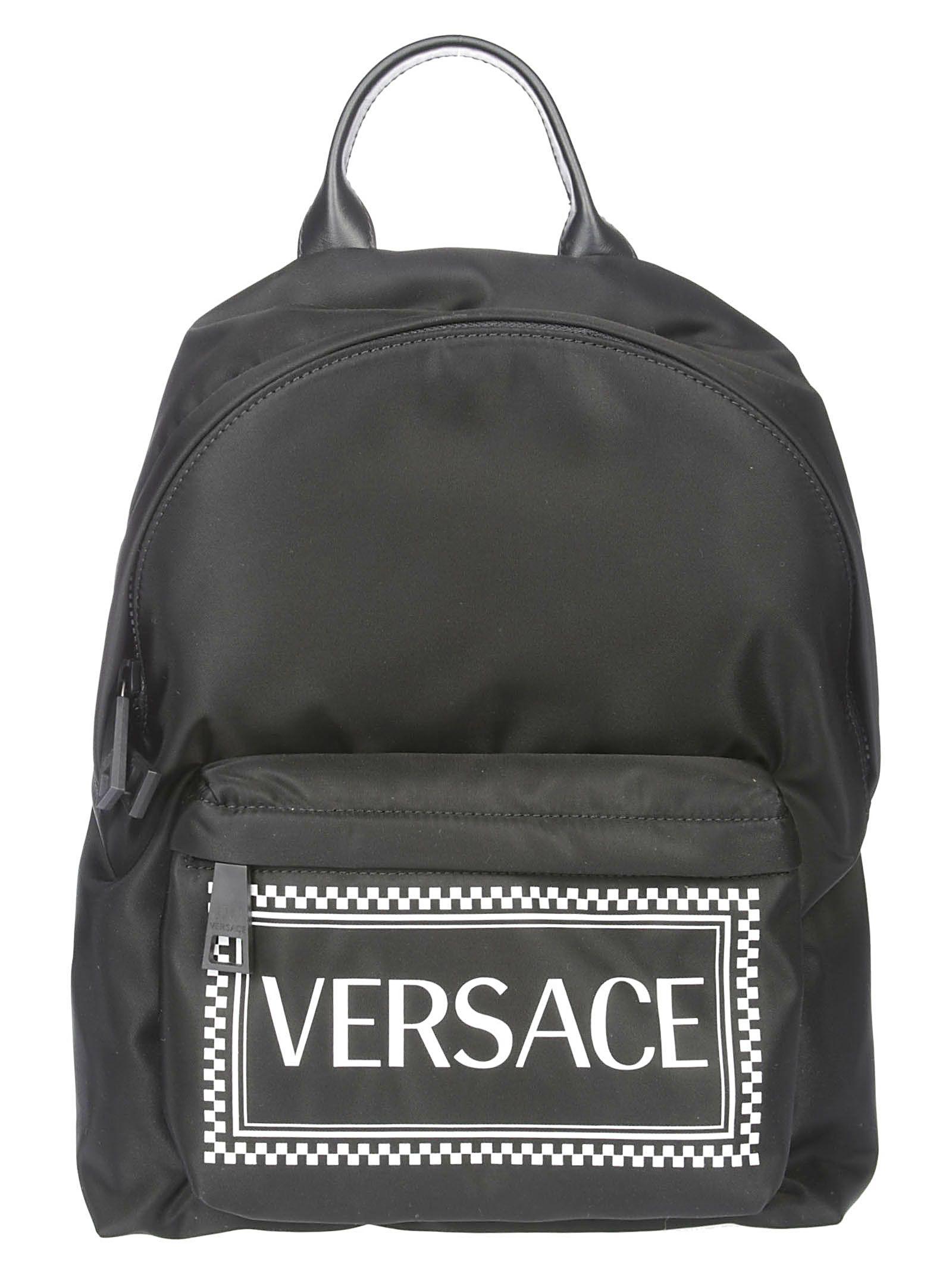 d7abfbea9381 Versace Versace Logo Print Backpack - Black - 10833933
