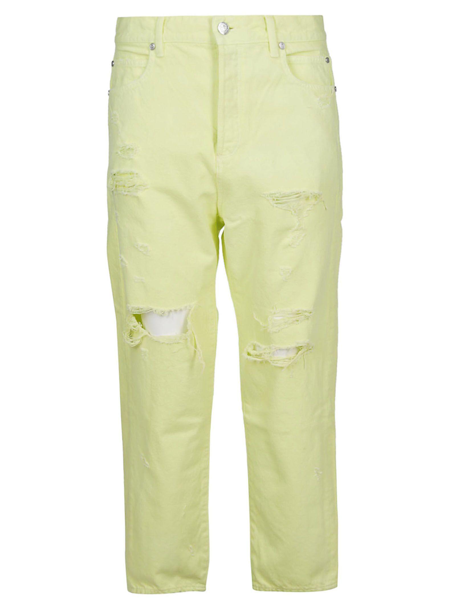 666ea715 Balmain Balmain Distressed Jeans - YELLOW FLUO - 10813748 | italist