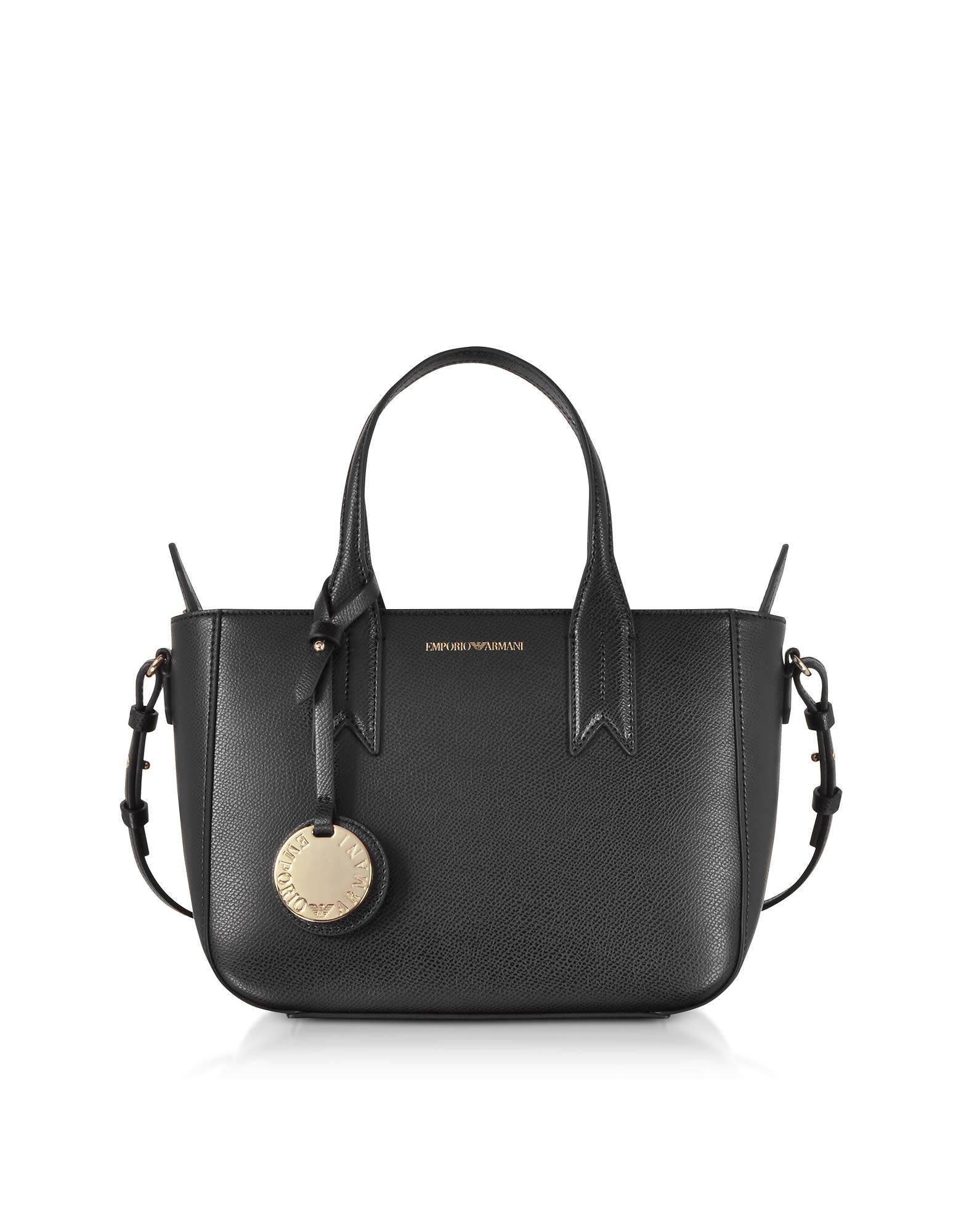 afd0c77ac8 Emporio Armani Emporio Armani Small Eco Leather Tote Bag - Black ...
