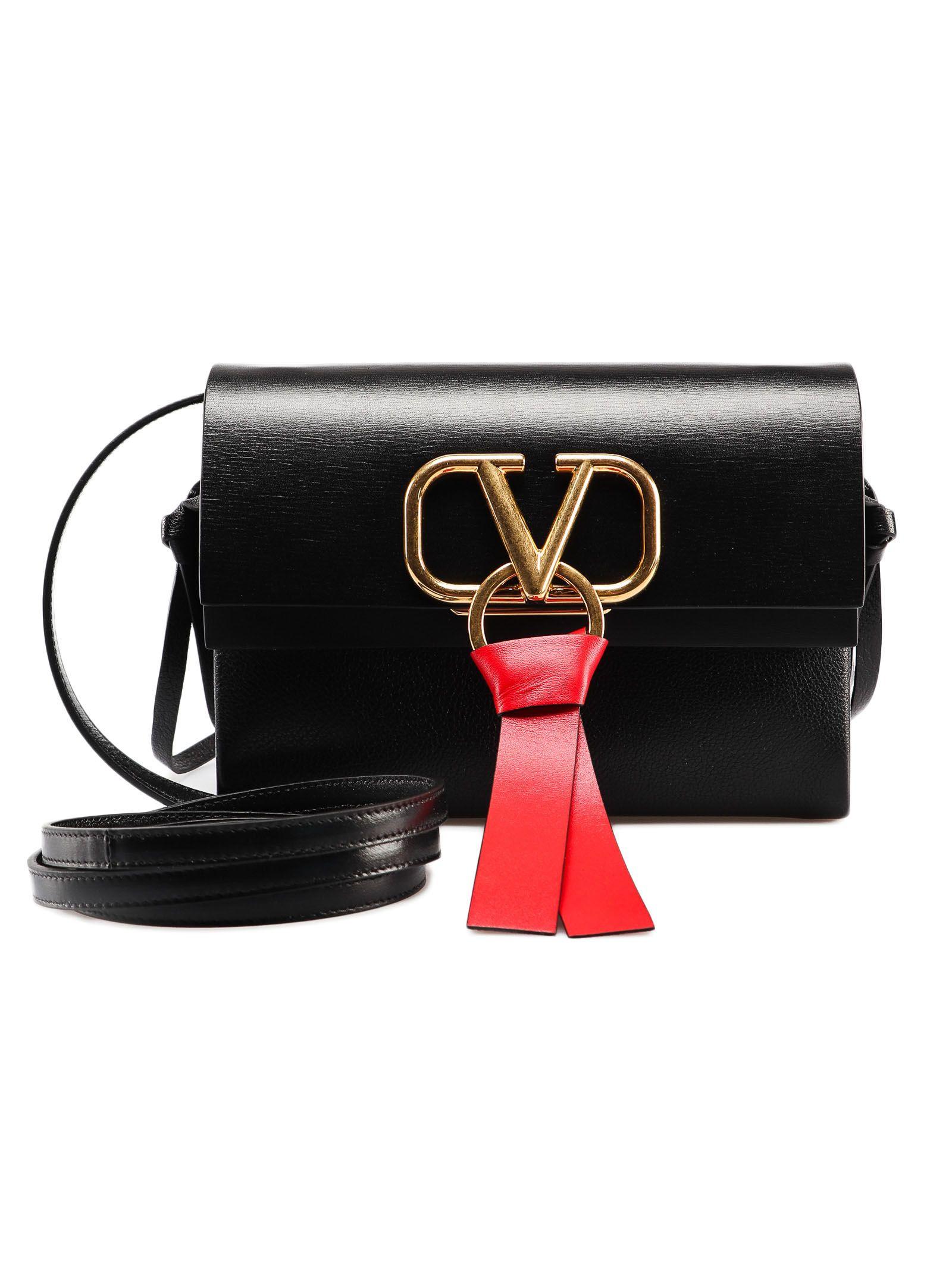 8980b53087 Valentino Garavani Valentino Garavani V Ring Shoulder Bag - No Nero ...