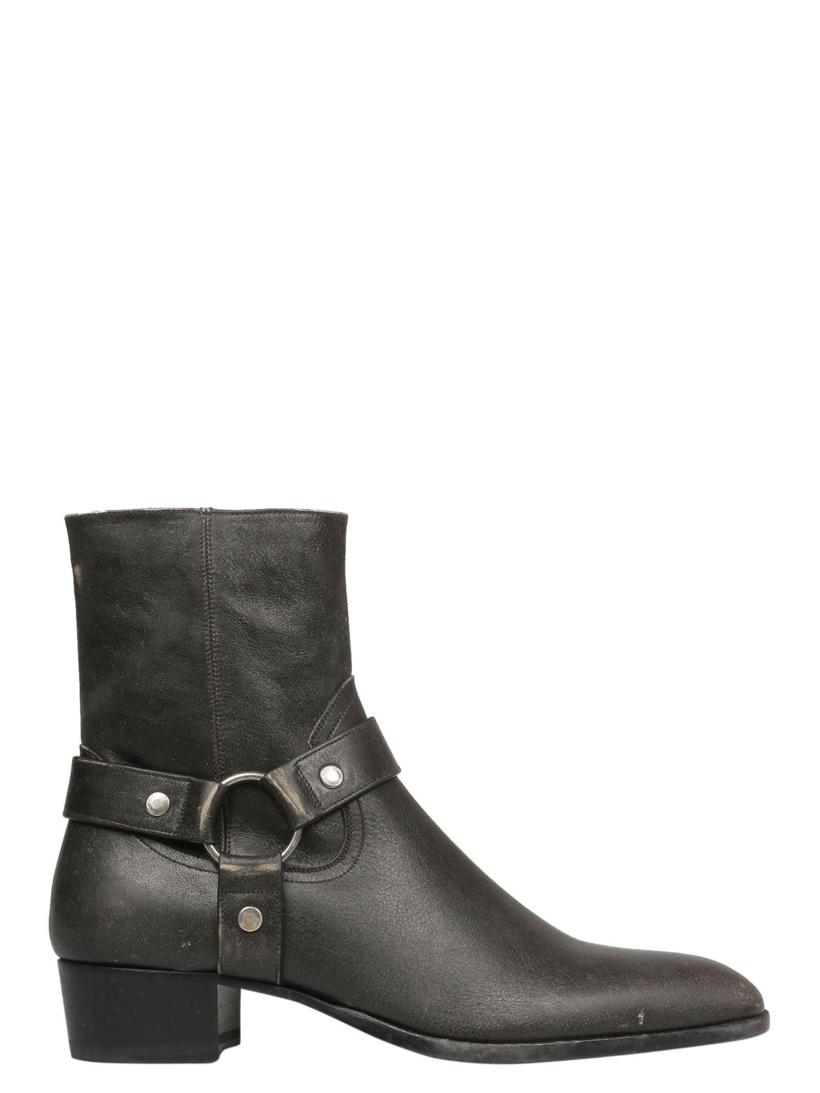 14a7aaa6c13d Saint Laurent Saint Laurent Wyatt Ankle Boots - Basic - 10853111 ...