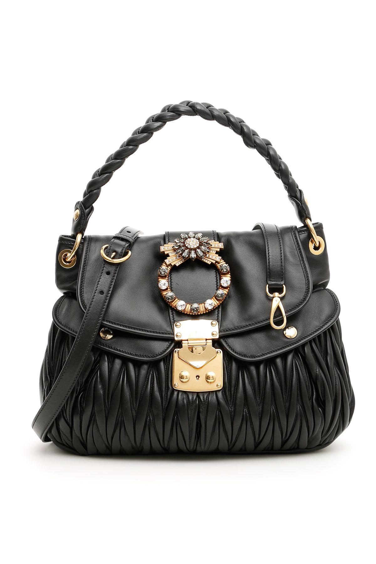 Miu Miu Miu Miu Crystal Buckle Coffer Bag - NERO 931d72f78cd2c