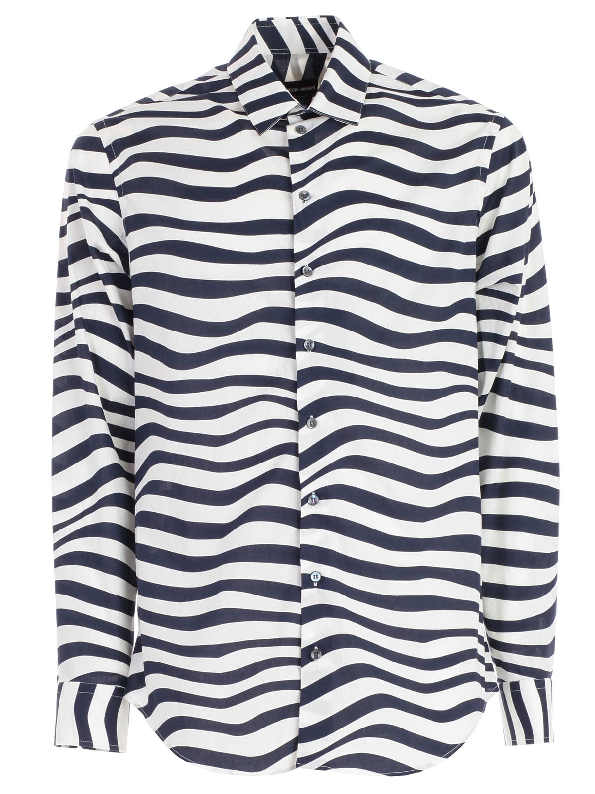 4193beef09e Giorgio Armani Giorgio Armani Striped Shirt - White - 10824995